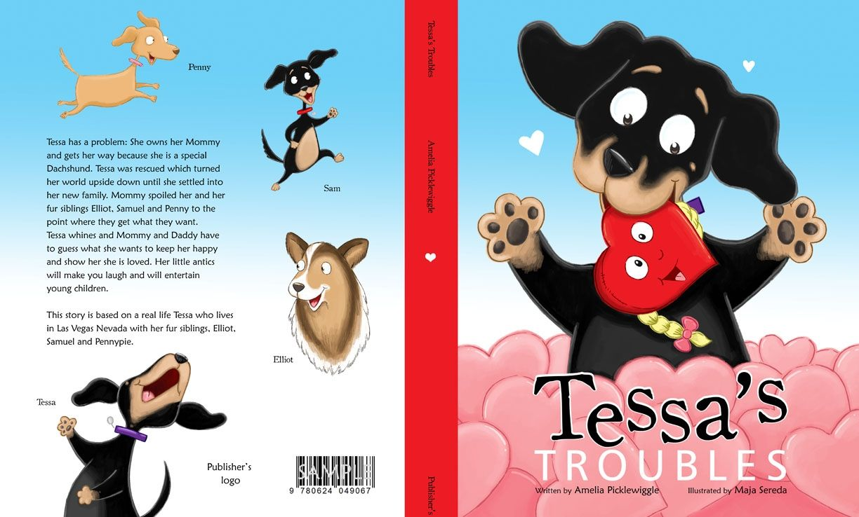 Children S Book Front And Back Cover : Tessa s troubles book one amelia picklewiggle children