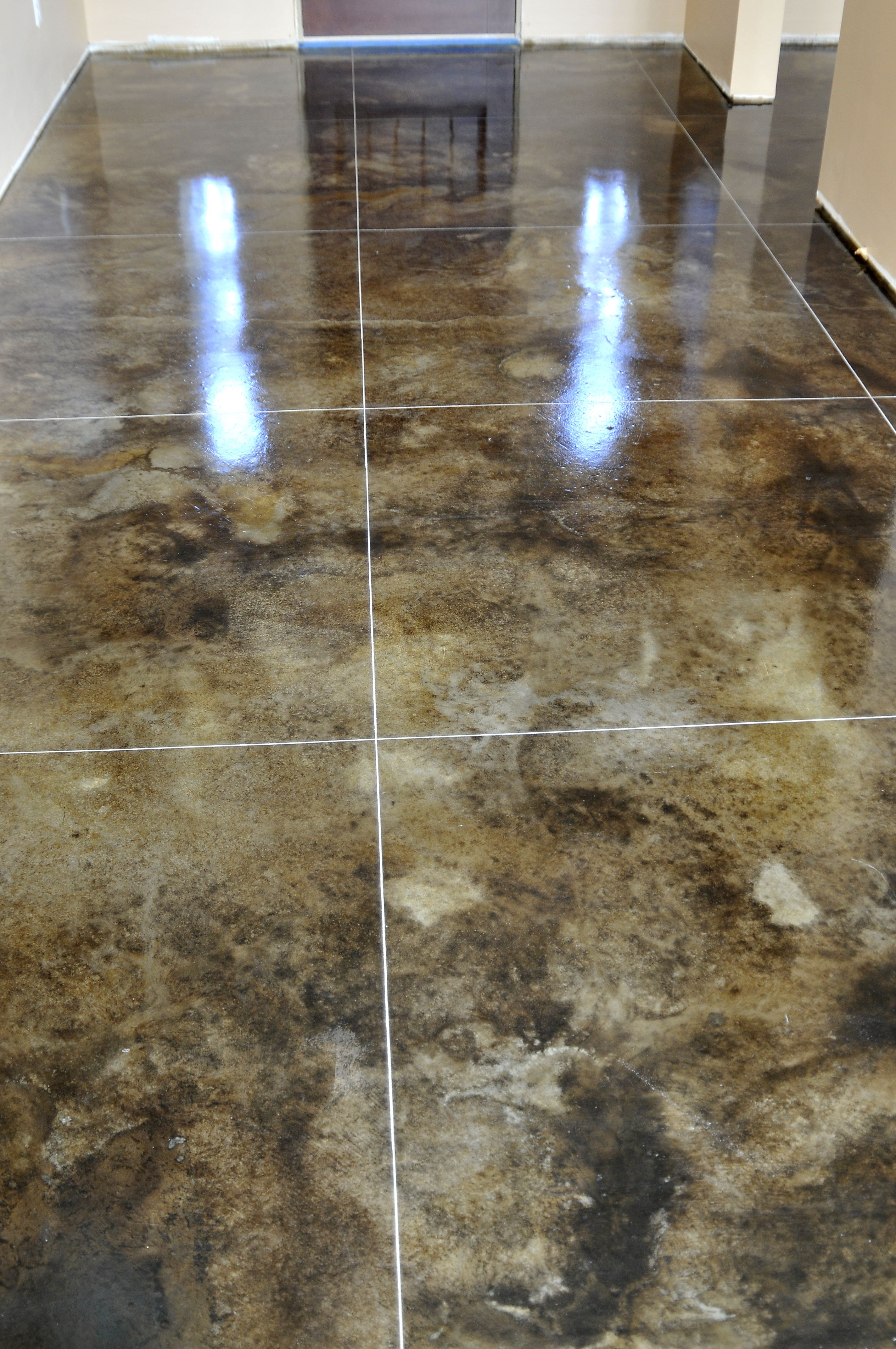 Stained concrete floors for the home pinterest for Concrete floors in homes