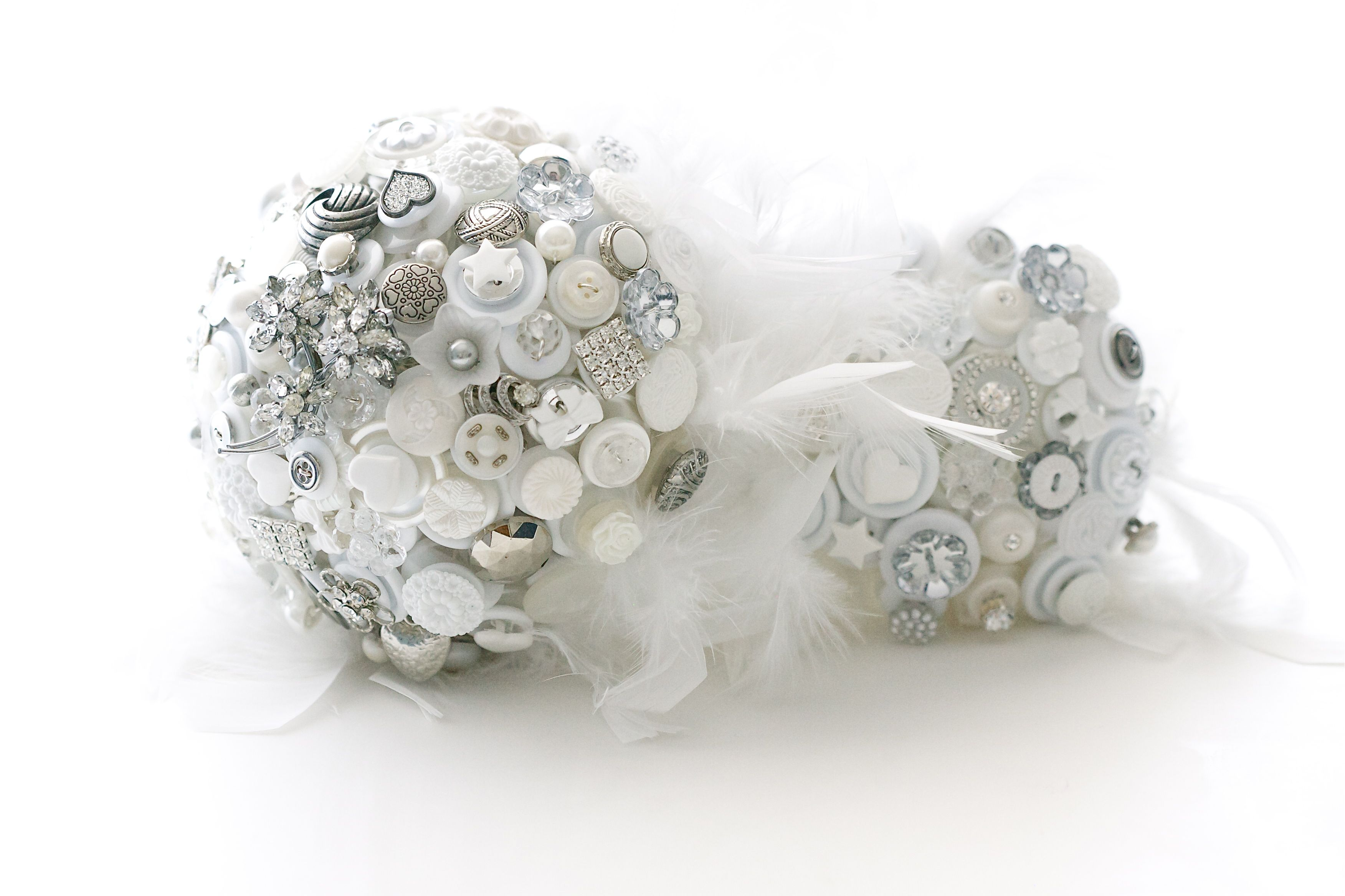 Vintage Button Wedding Bouquet