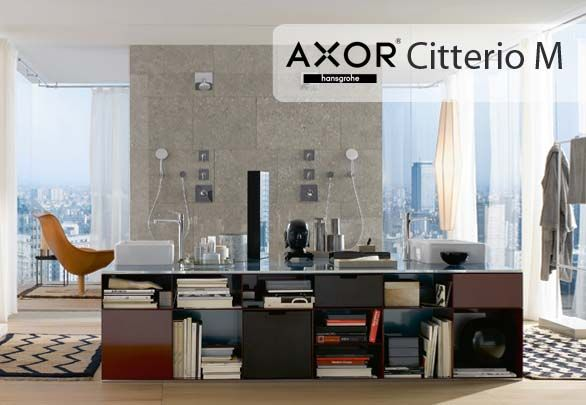Axor Citterio M Accuracy, brightness and Urban Chic are the elements that determine the value of the bath line, in the Modern inspired by the life of a big city