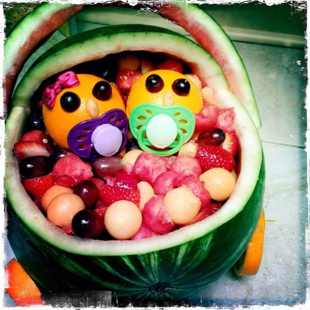 fruit basket for twins baby shower baby shower pinterest