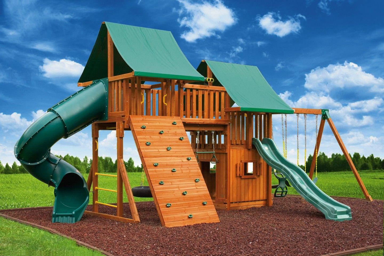 The 15 best swing set with bridge building plans online for Wooden swing set with bridge