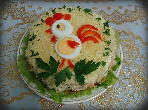 Новогодние украшения салатов своими руками