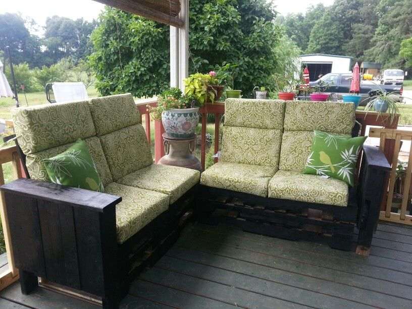 Pallet patio furniture cabin pinterest