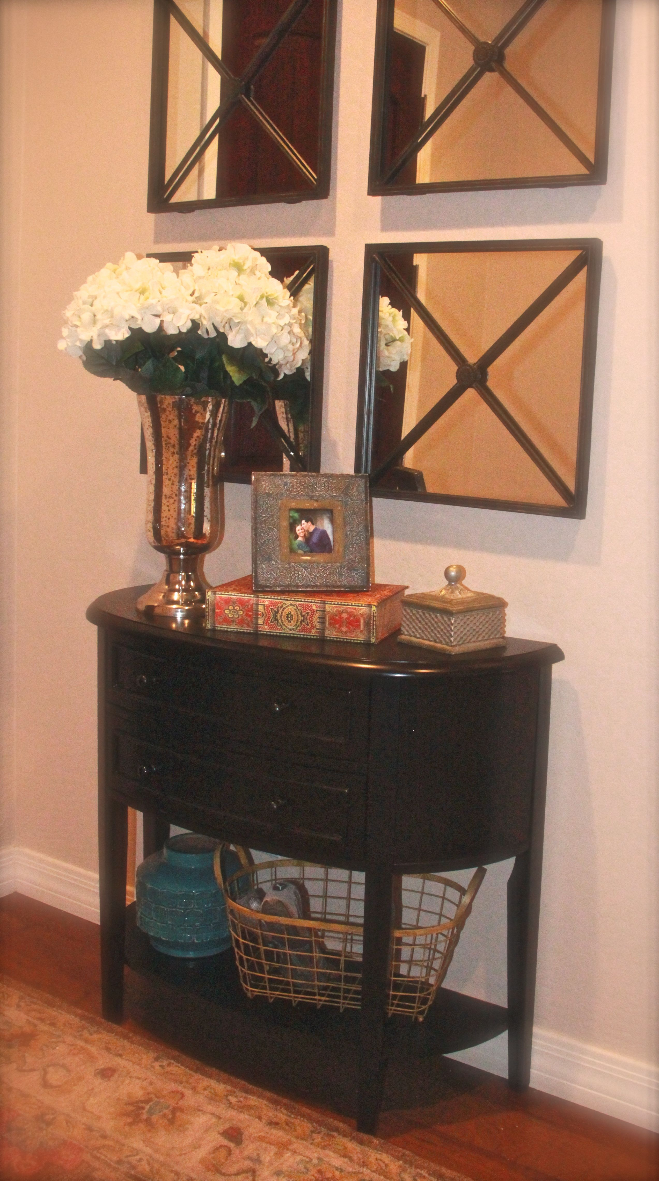 Small Foyer Photos : Small foyer love the square mirrors home pinterest