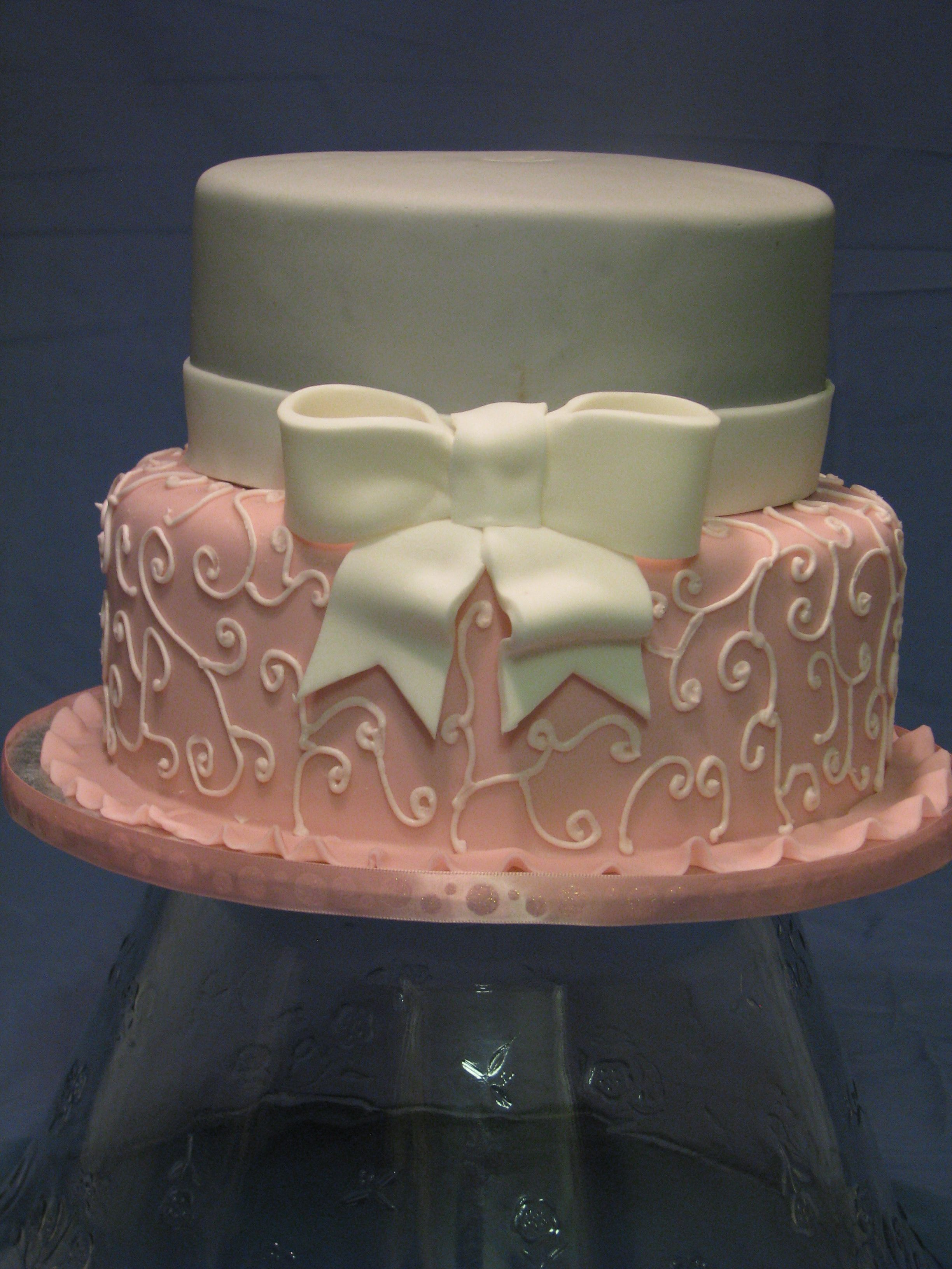 pink and gray baby shower cake let them eat cake pinterest