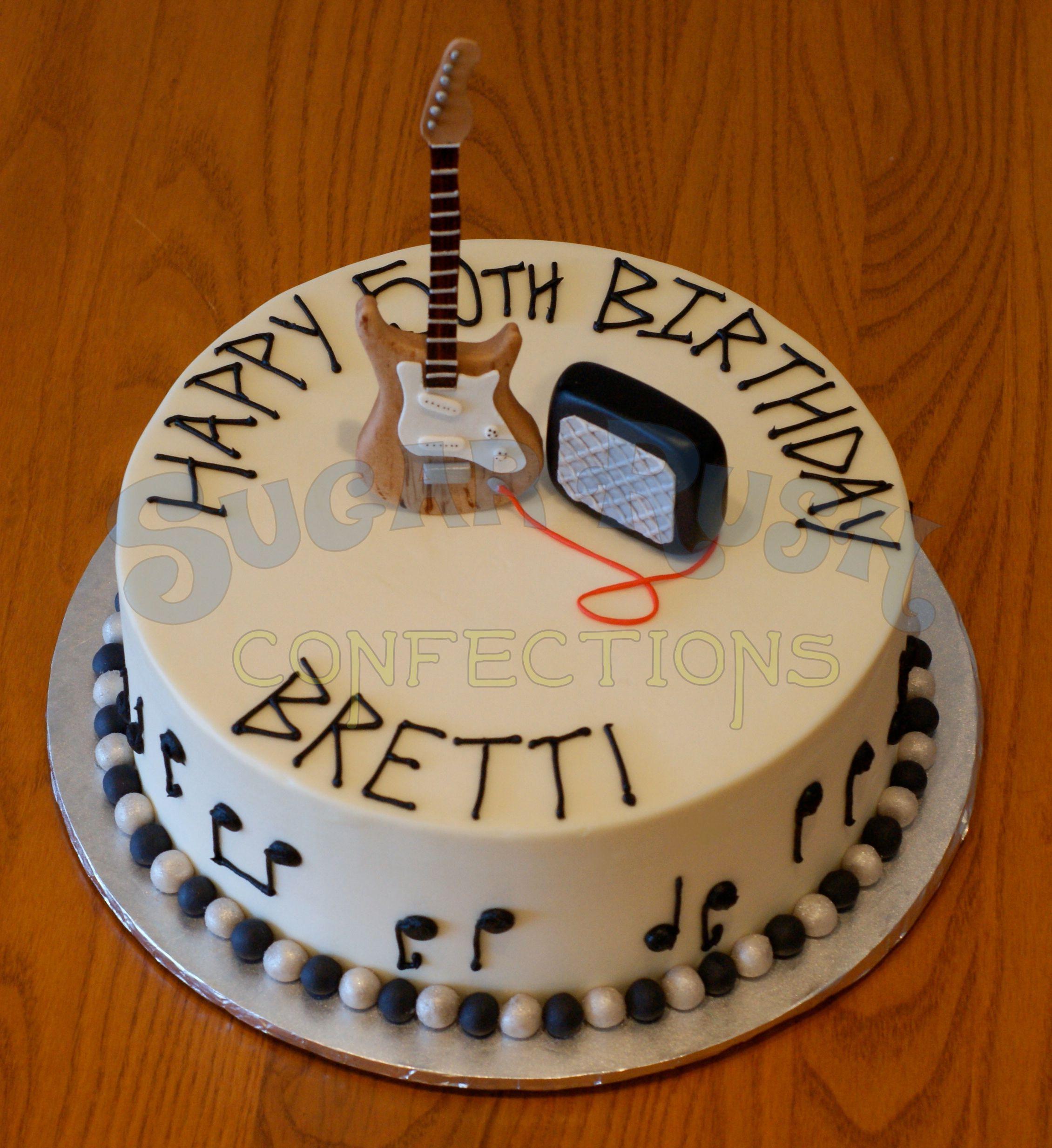 Guitar Birthday Cake Images : Guitar Birthday Cake Katie s Cakes Inspiration Pinterest