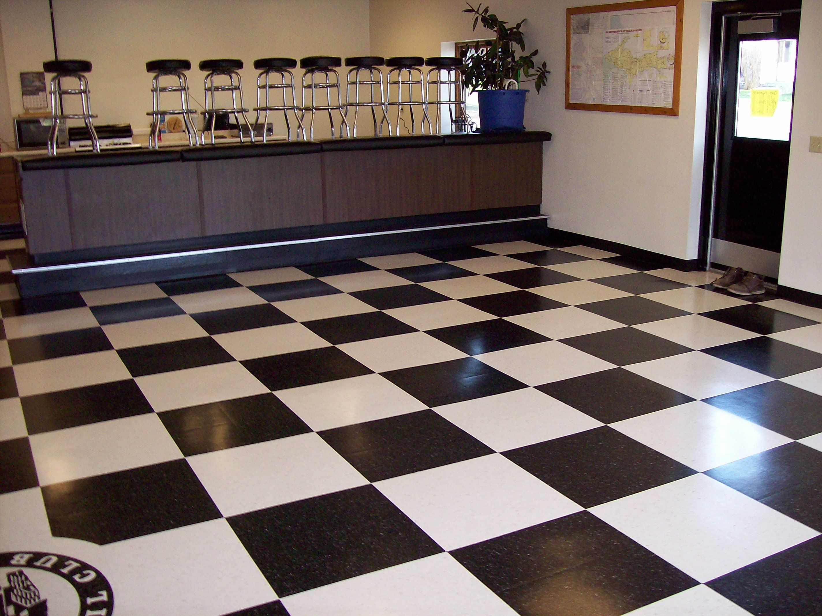 Checkerboard floor : For the Home : Pinterest