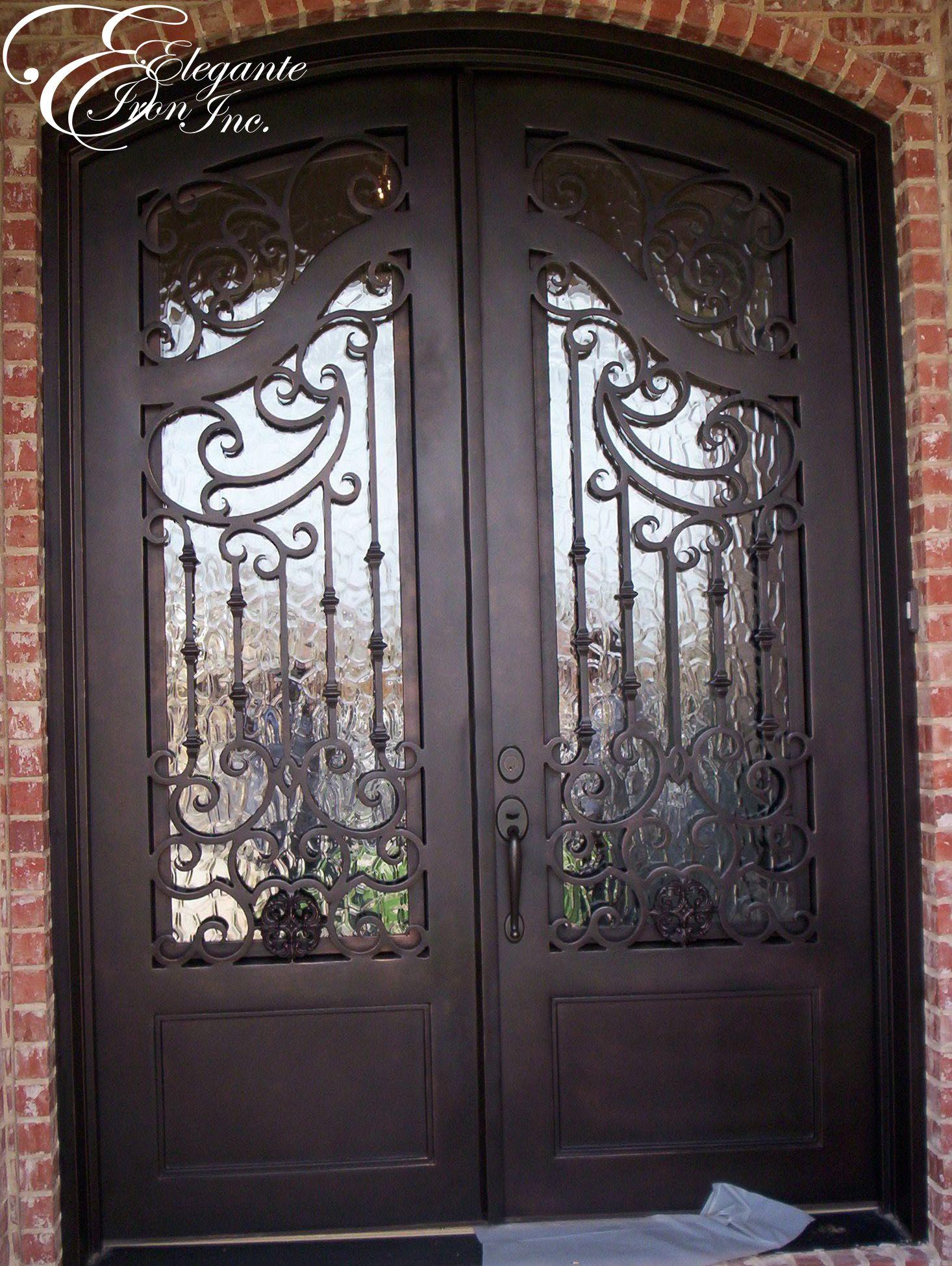 1949 #835E48 Custom Wrought Iron Front Door. Double Doors Pinterest picture/photo Rod Iron Front Doors 43091466