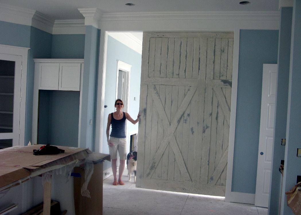 Barn door for Sliding barn door construction plans