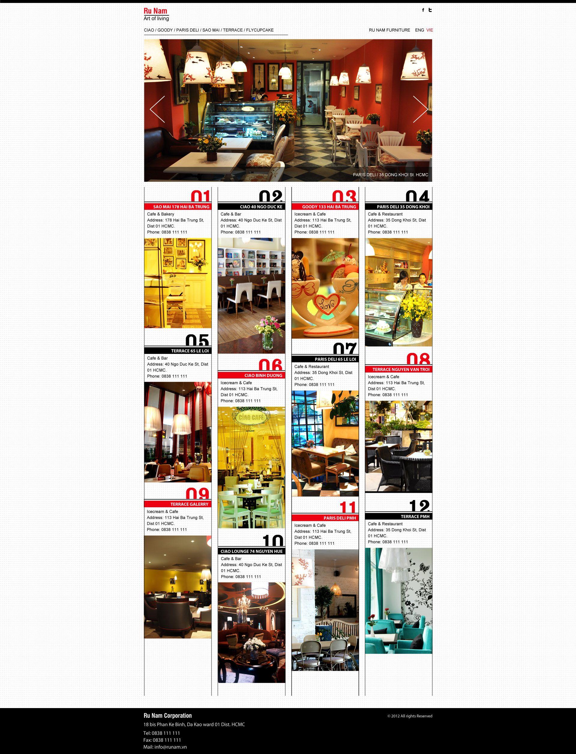 Calendar Of Events Design : Ciao cafe website calendar of events graphic design