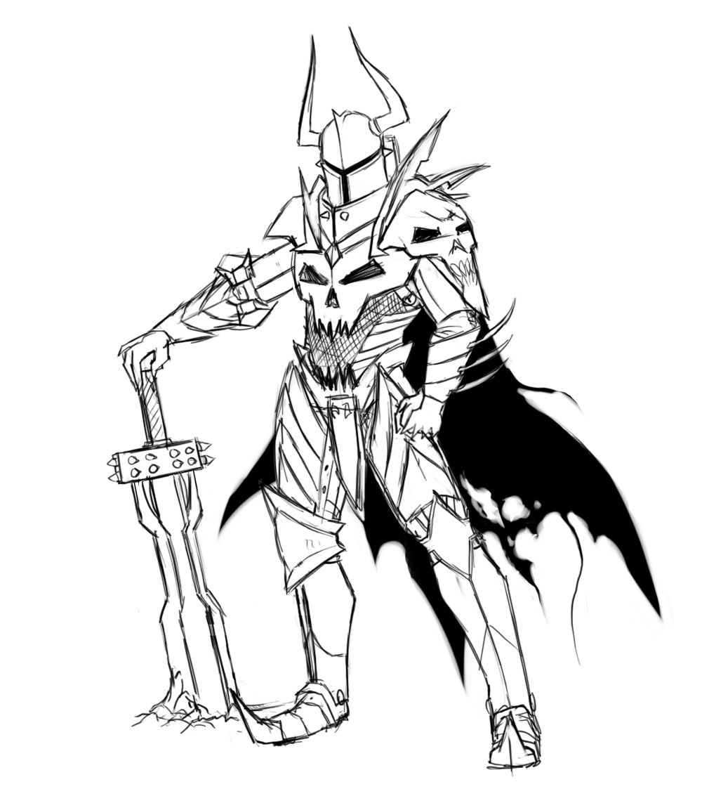 Cool Knight Drawings Images