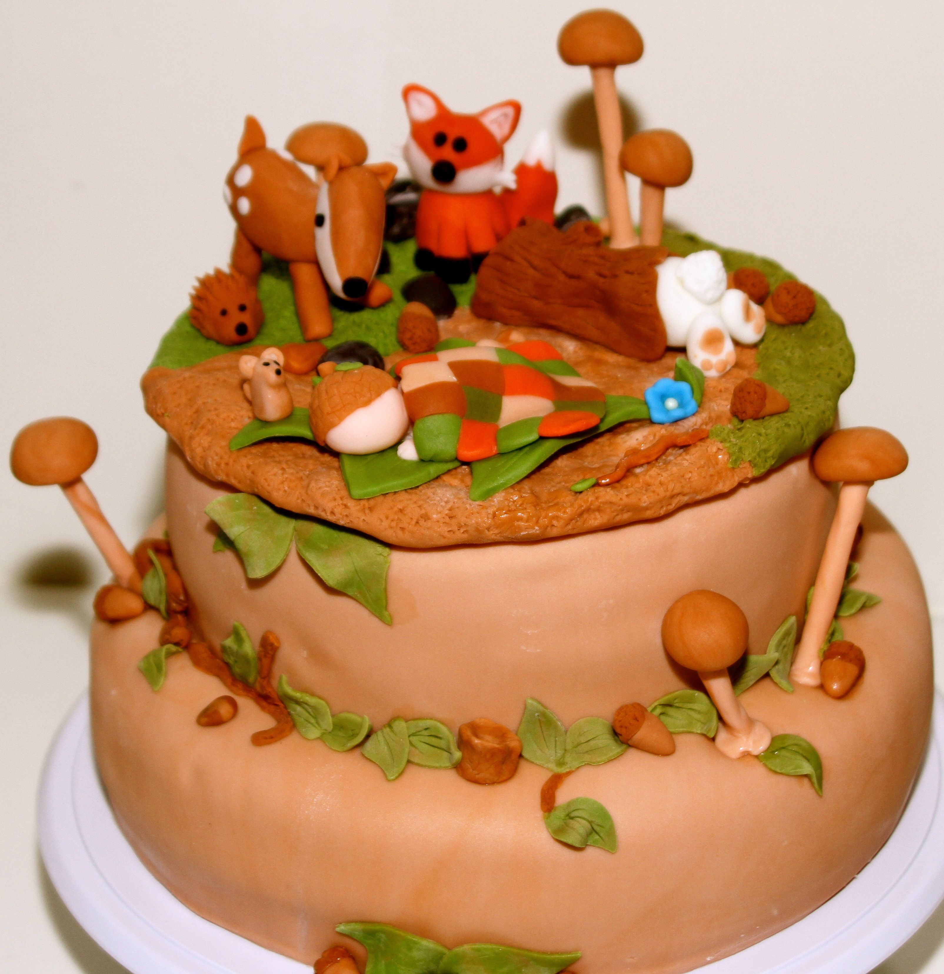 woodland baby shower cake baby odds and ends pinterest
