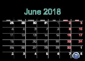 Pin by Printable Free on June 2018 calendar | Pinterest | Calendar ...