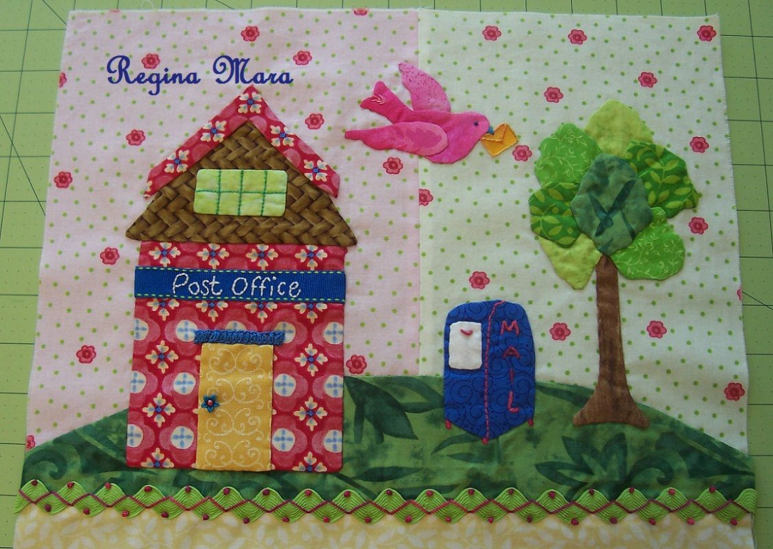 Tiny Town - block 4 | MY EMBROIDERIES AND PATCHWORK | Pinterest
