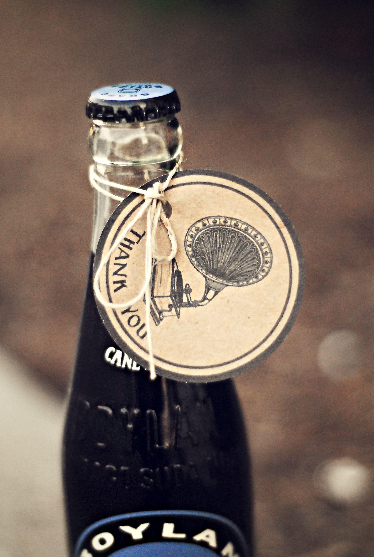 Grape soda as a wedding thank you! | I Spy Boylan | Pinterest