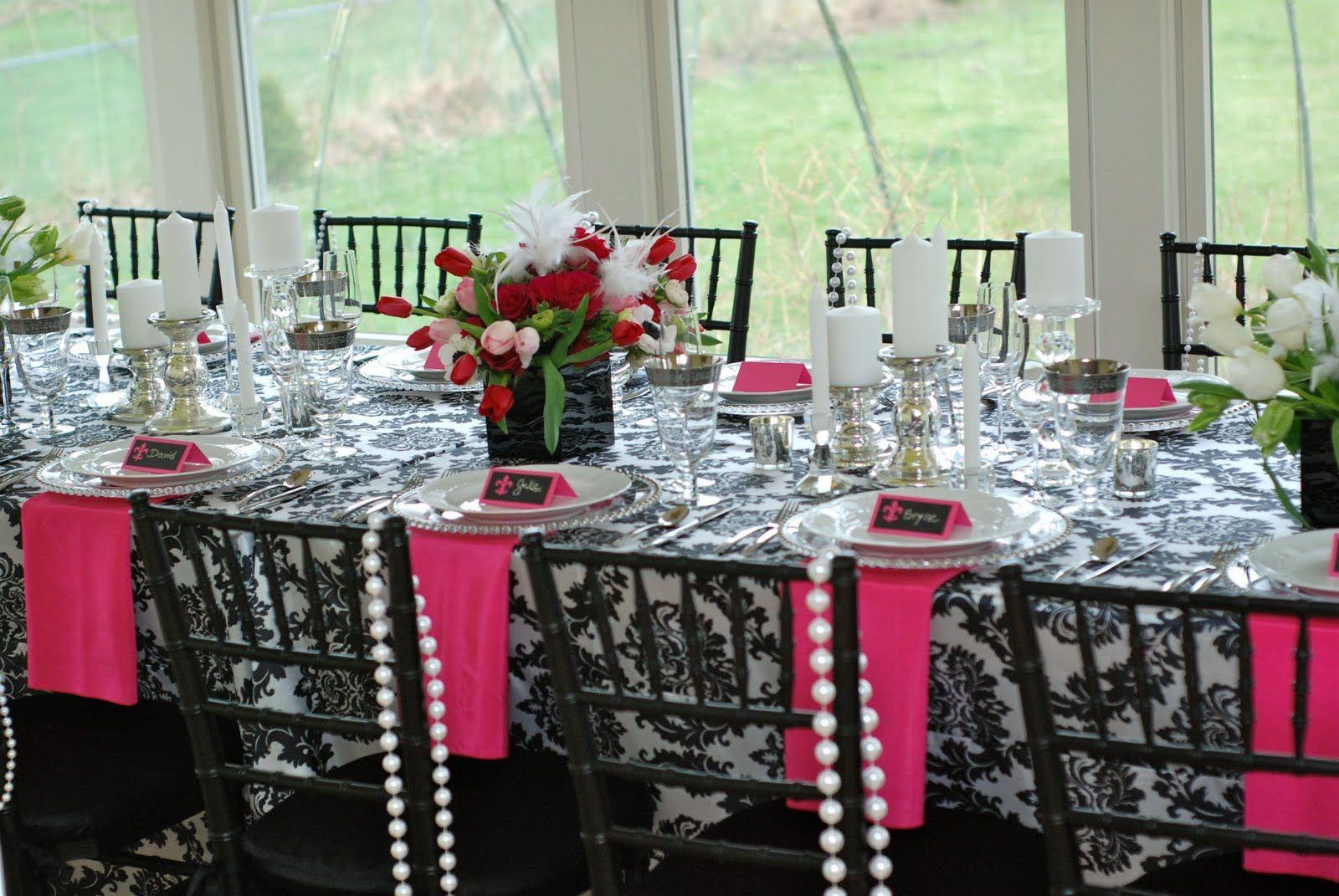 Paris party theme table decorations pinterest - French themed table decorations ...