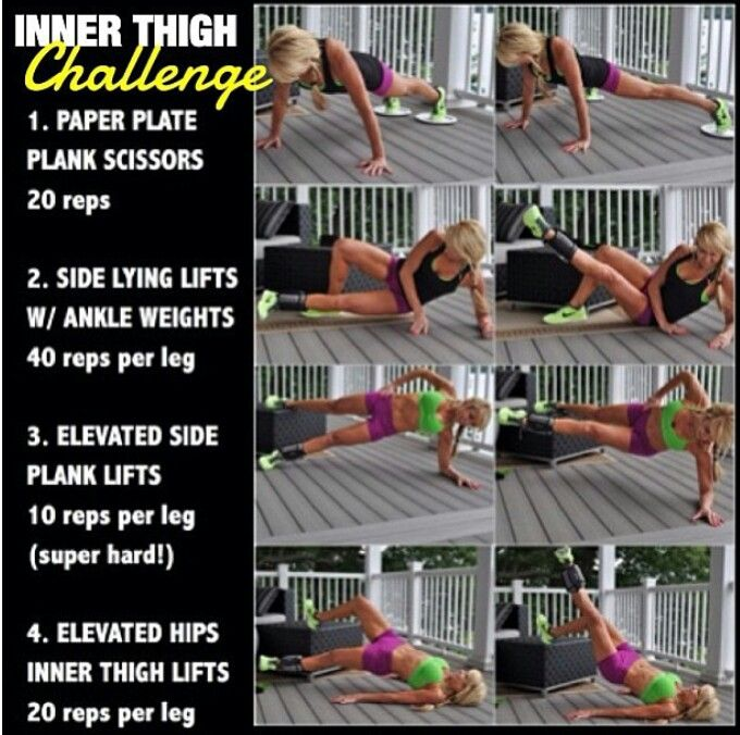 Inner Thigh Challenge   Health and Fitness   Pinterest