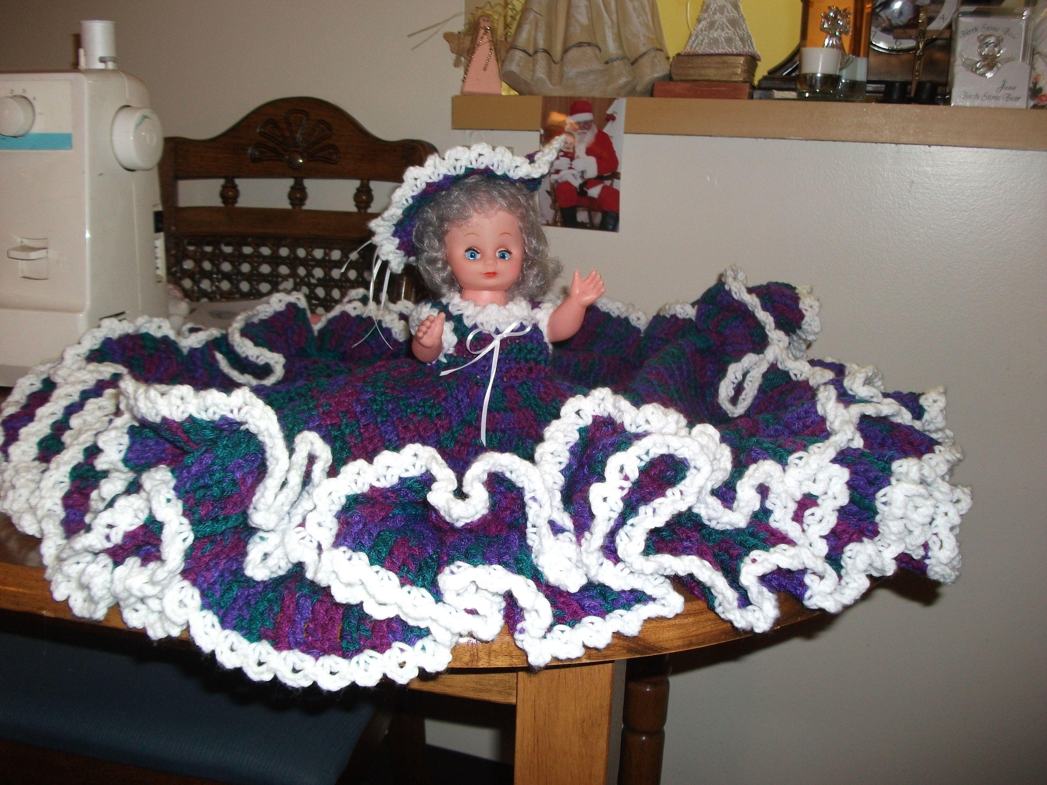Crochet Pattern American Girl Doll : Crochet Bed Doll bed dolls crochet Pinterest