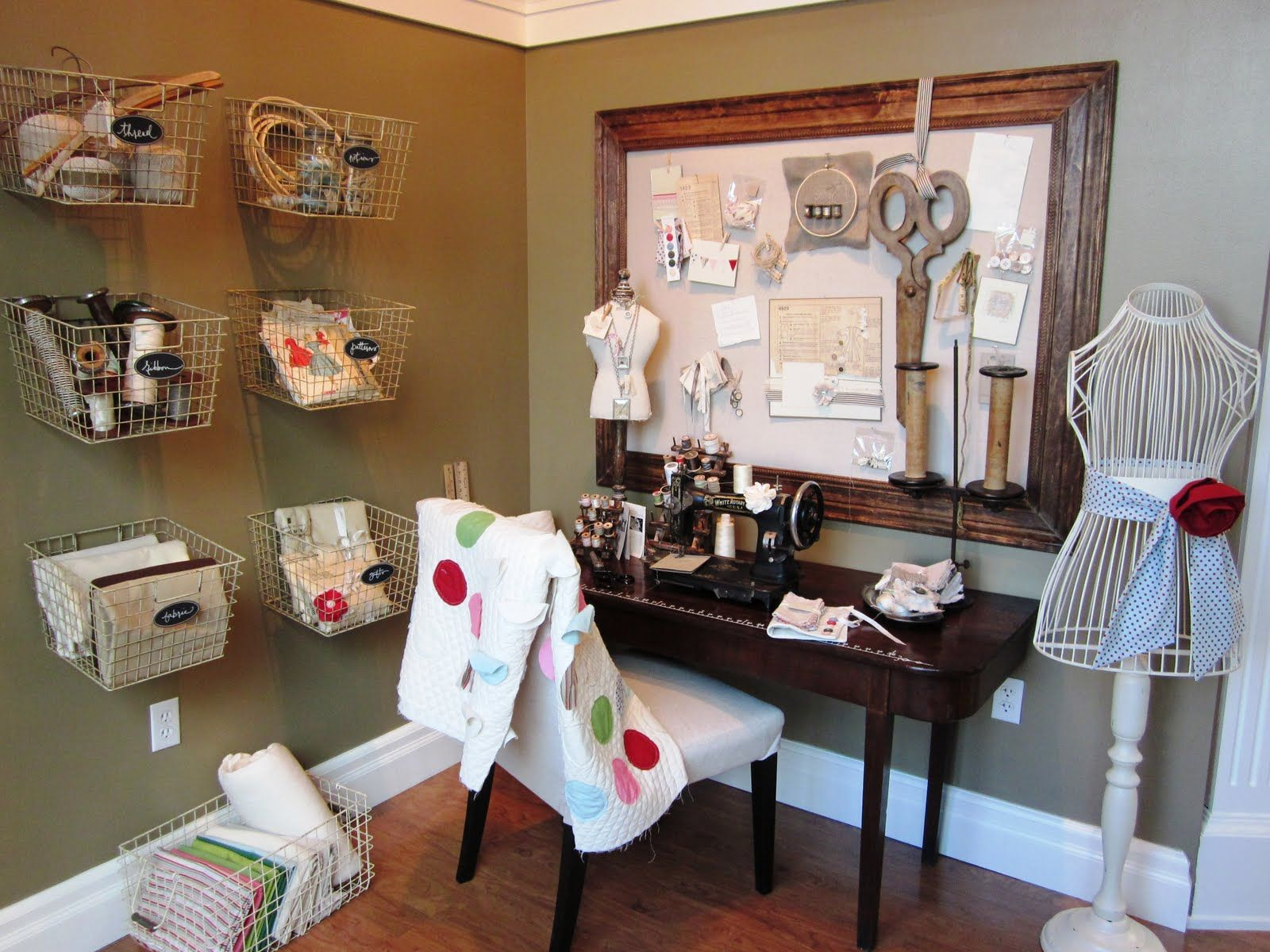 Vintage Sewing Room Ideas 1600 x 1200
