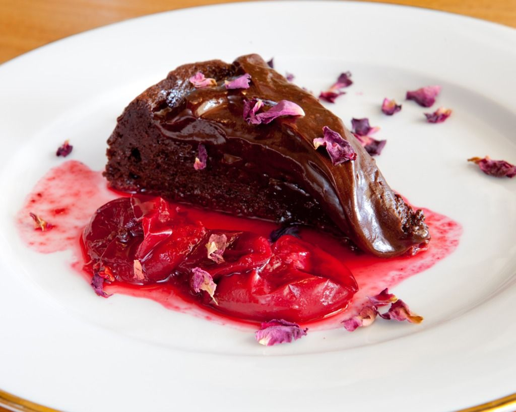 Chocolate-Pomegranate Torte Recipe — Dishmaps