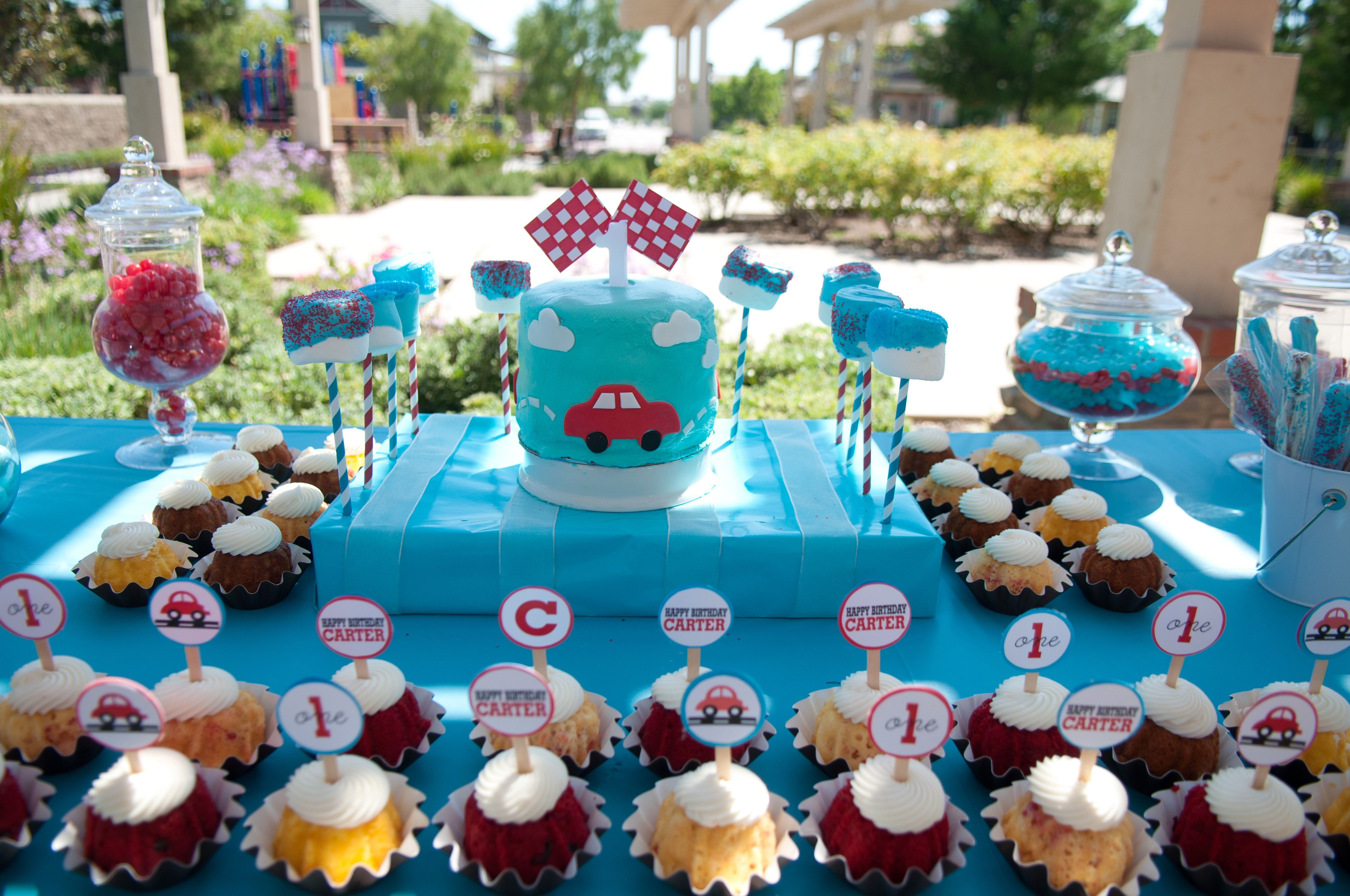 Little red car party brody s 3rd birthday pinterest