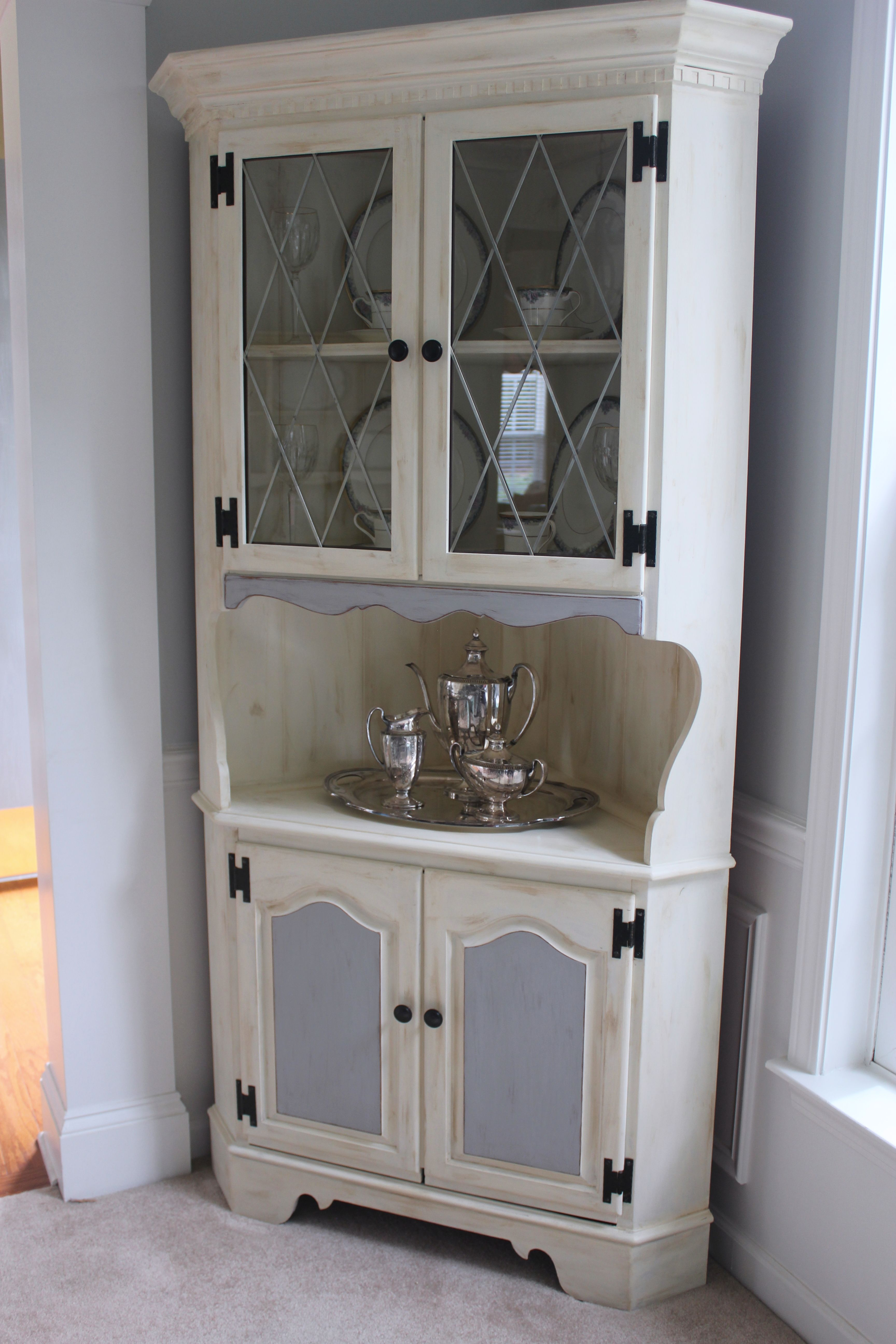 corner hutch dining room pinterest