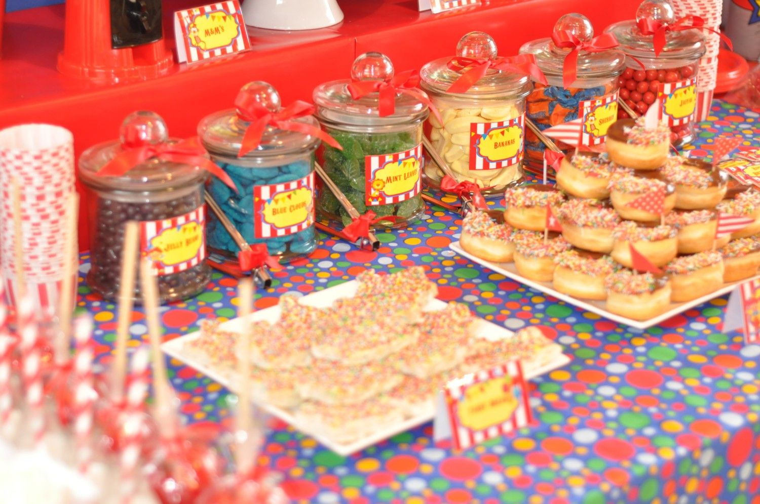 Circus food circus party circus theme party birthday pintere - Carnival party menu ...