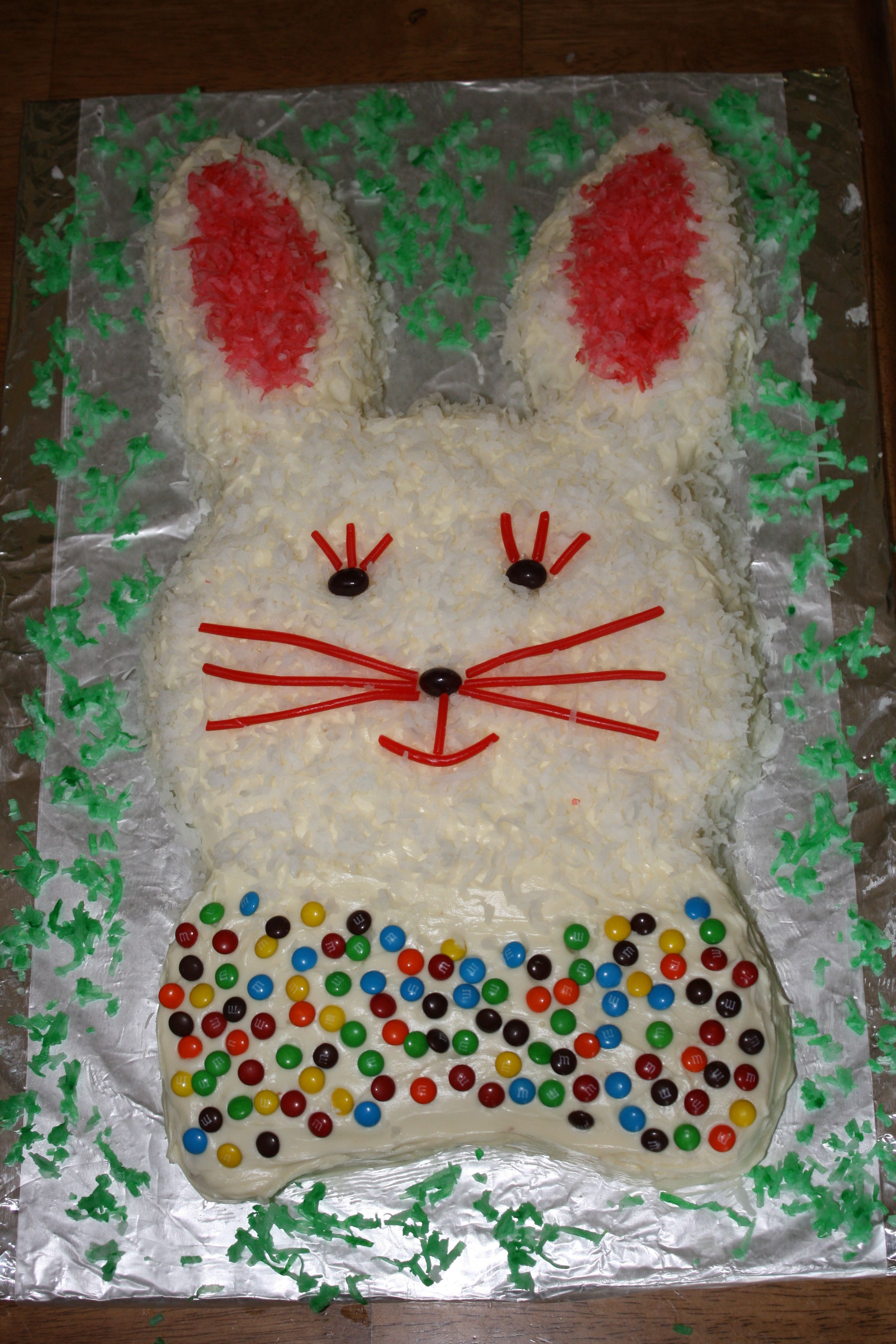 Easter Cake Decorations Pinterest : Easter Bunny Cake - after decorating Holiday Foods ...