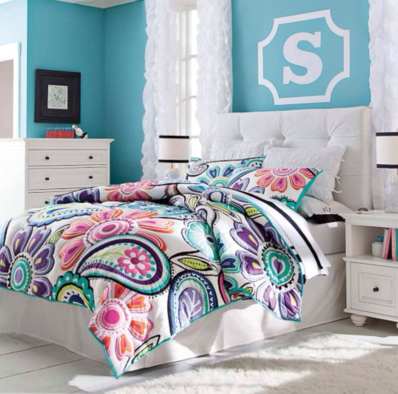 Pb teen girls bedroom girls bedroom pinterest for Bed rooms for girls
