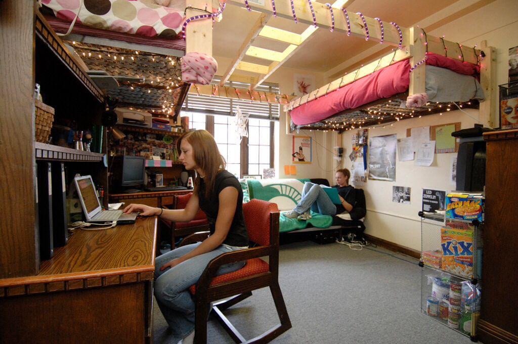 Michigan State Double Dorm Room  college  Pinterest ~ 081707_Dorm Room Ideas Double