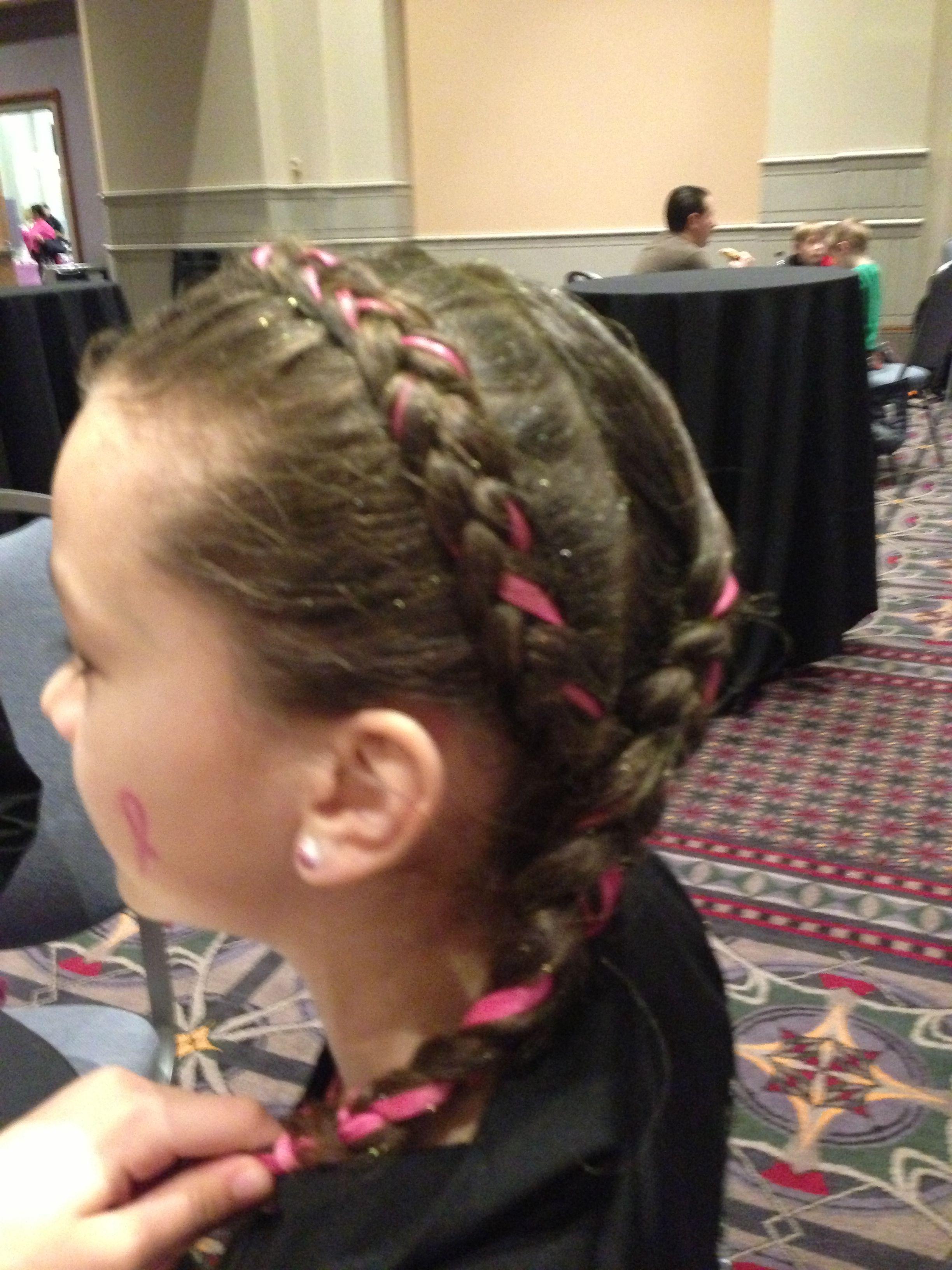 hairstyles for heart shaped face : Gymnast hair Gymnastics meet hairstyles Pinterest