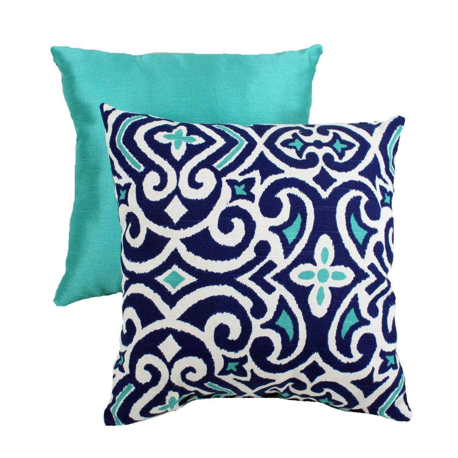 navy aqua and white pillow home decor pinterest