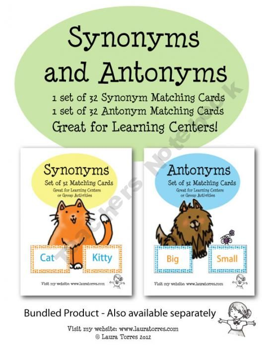 antonyms and synonyms Antonymns, synonyms, and homonyms can be confusing to students, but the sooner they get clear on them, the sooner they can use them.