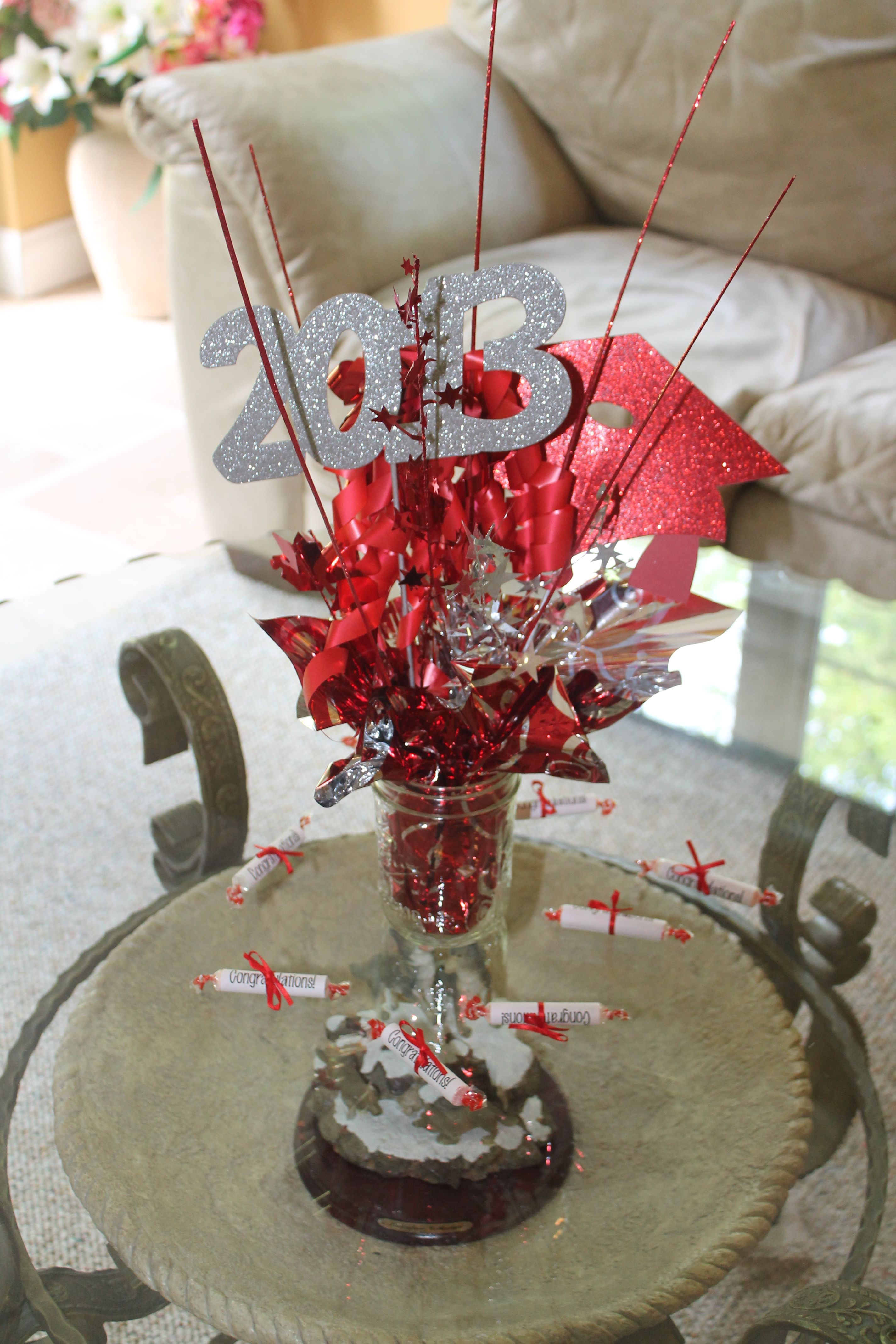 Centerpieces For Outdoor Graduation Party : Graduation Party Centerpiece  Next Outdoor Party  Pinterest