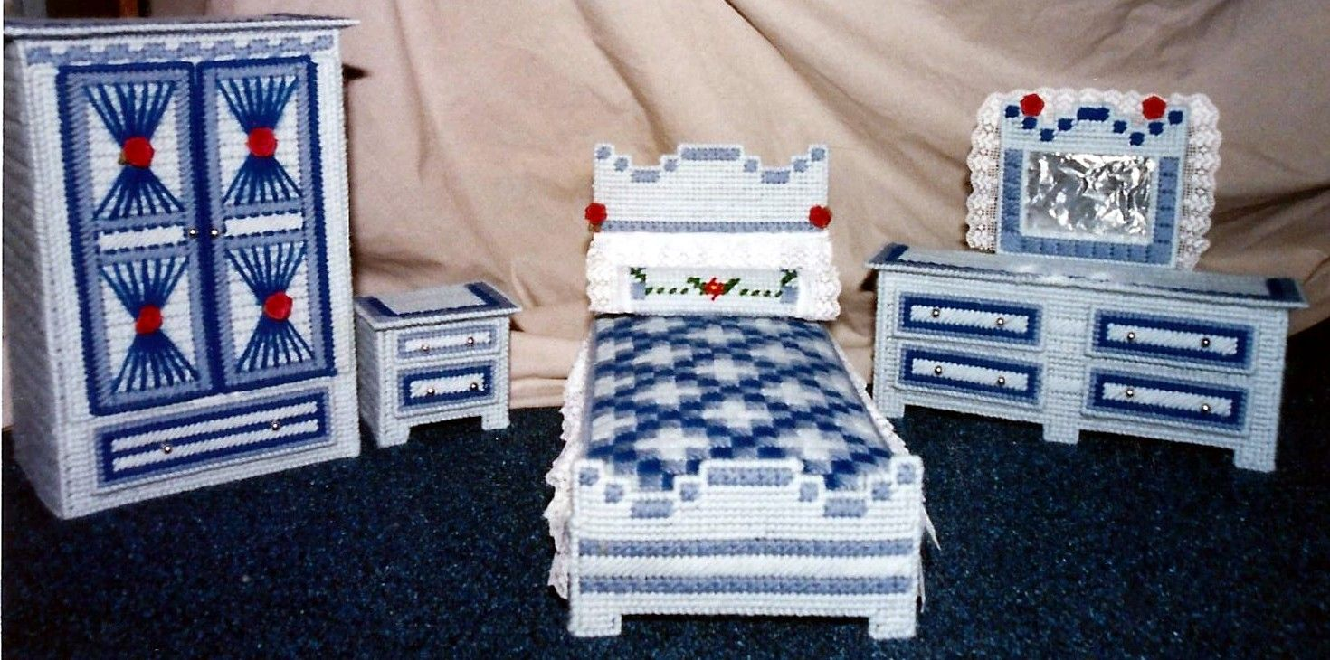 Plastic Canvas Doll House Furniture Plastic Canvas Pinterest
