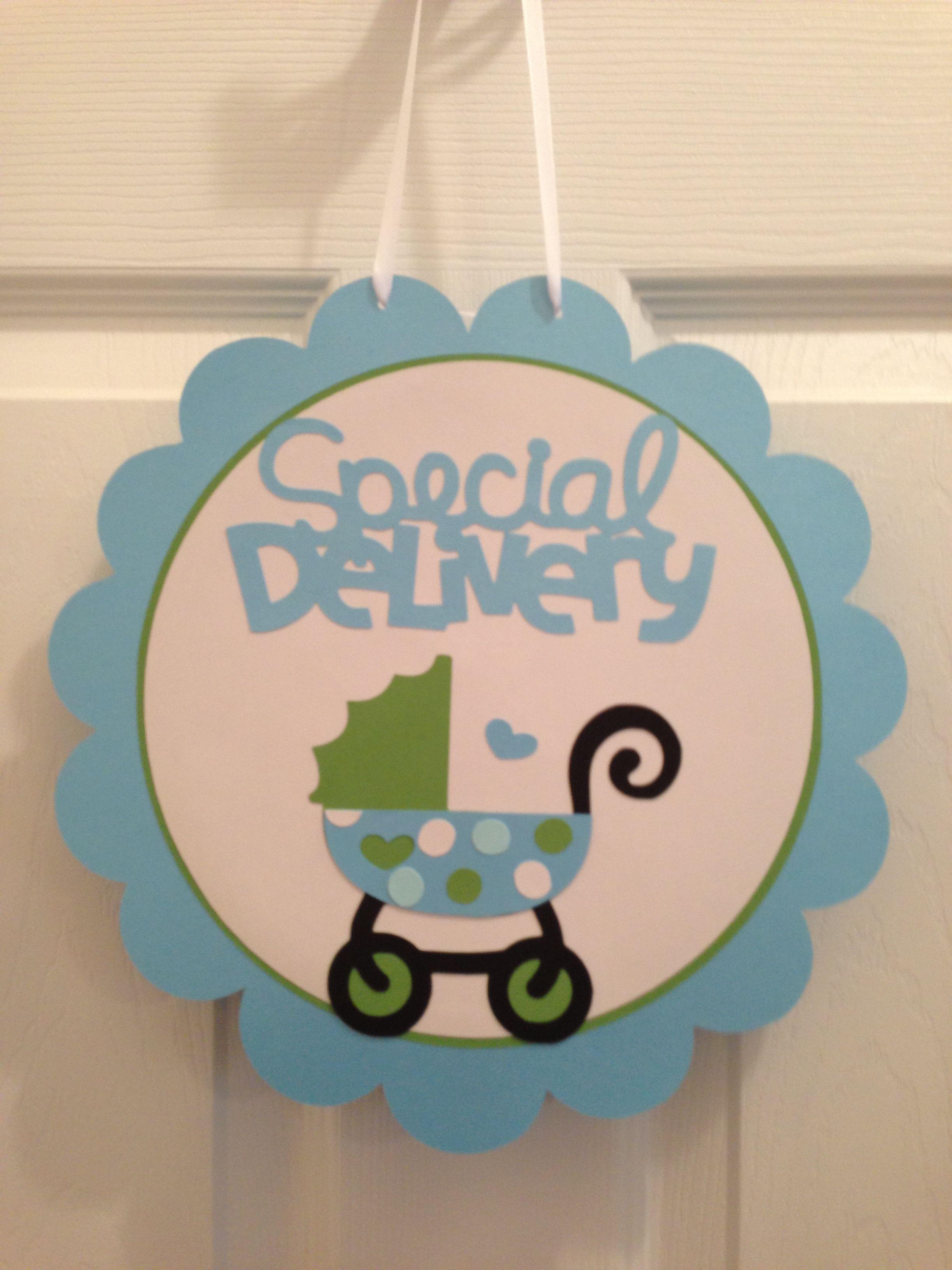 baby shower door sign cricut baby shower ideas pinterest