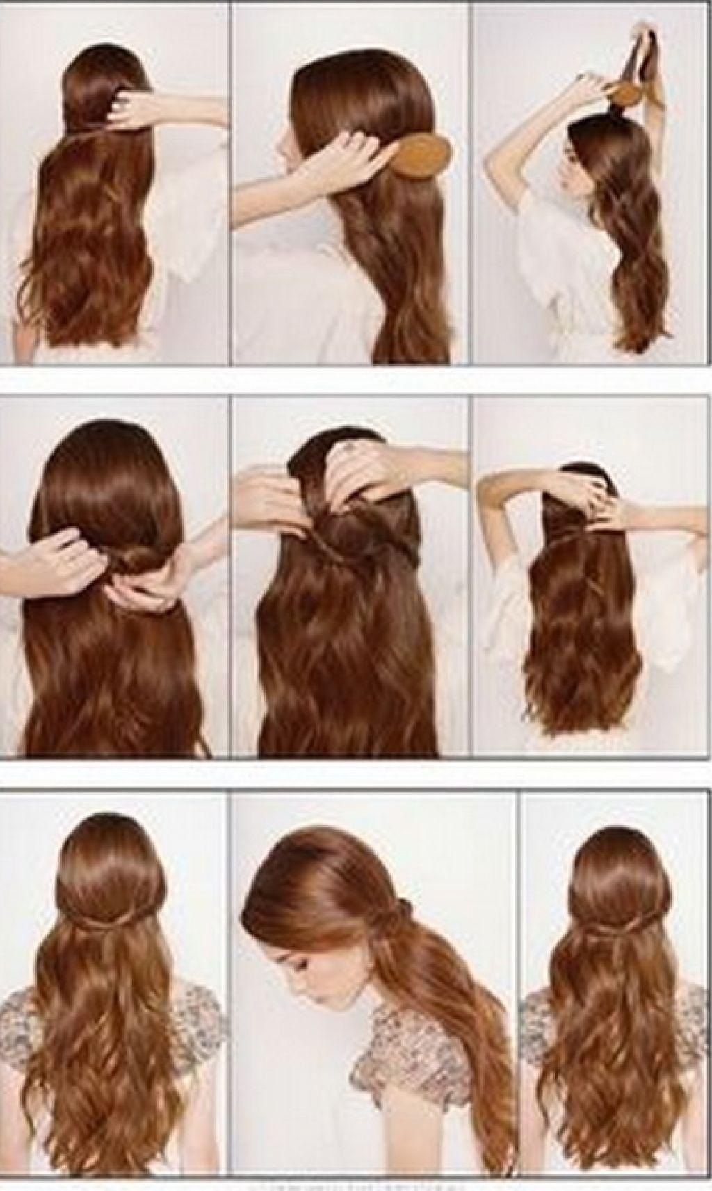 Причёски на средние волосы в домашних условиях пошагово фото 37