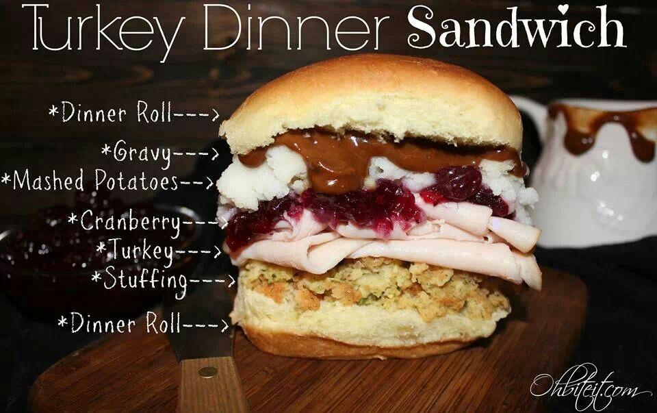 Turkey Dinner Sandwich | Holiday ideas & food | Pinterest