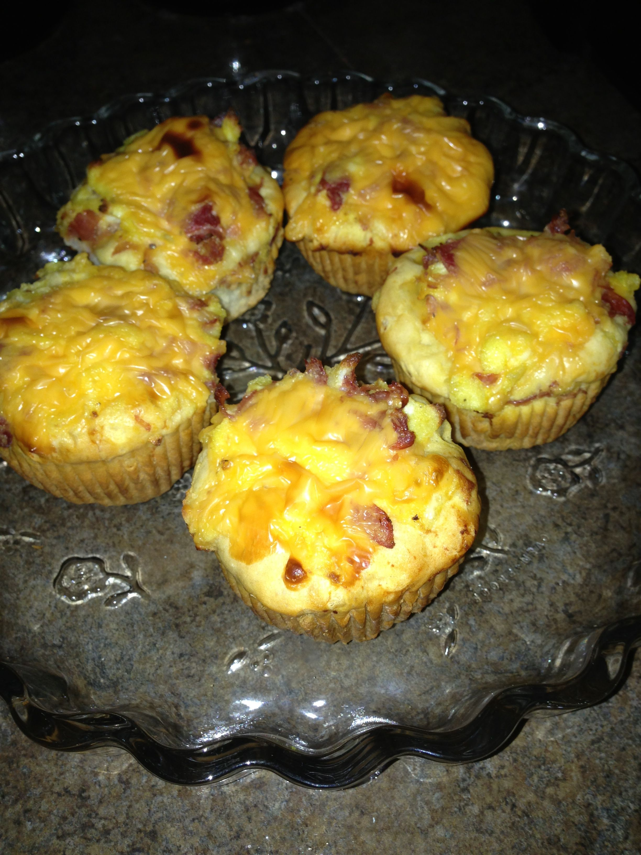 Scrambled Egg Biscuit Cups Recipe — Dishmaps