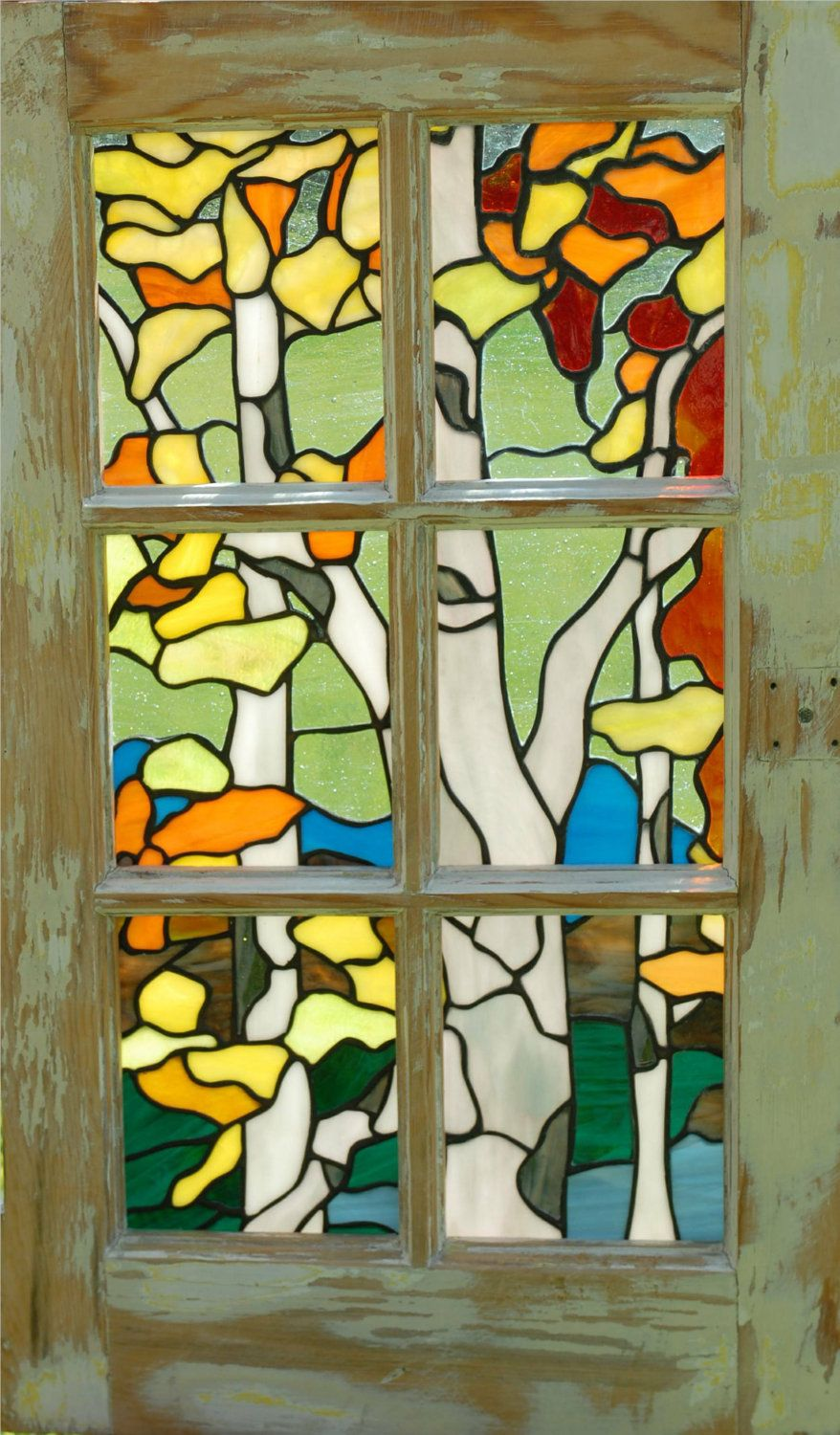 frame stained glass in window frames