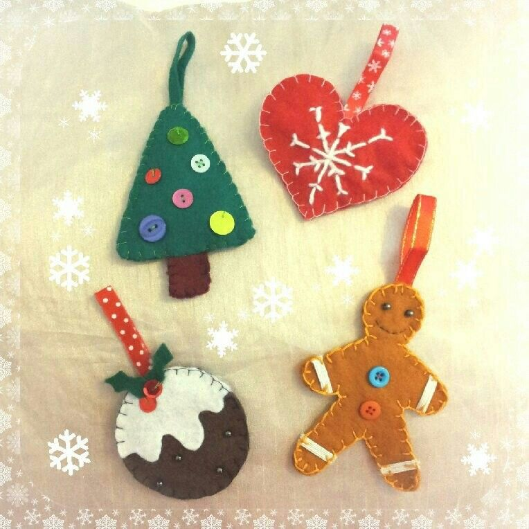 Homemade Felt Christmas Decorations Sewing Pinterest