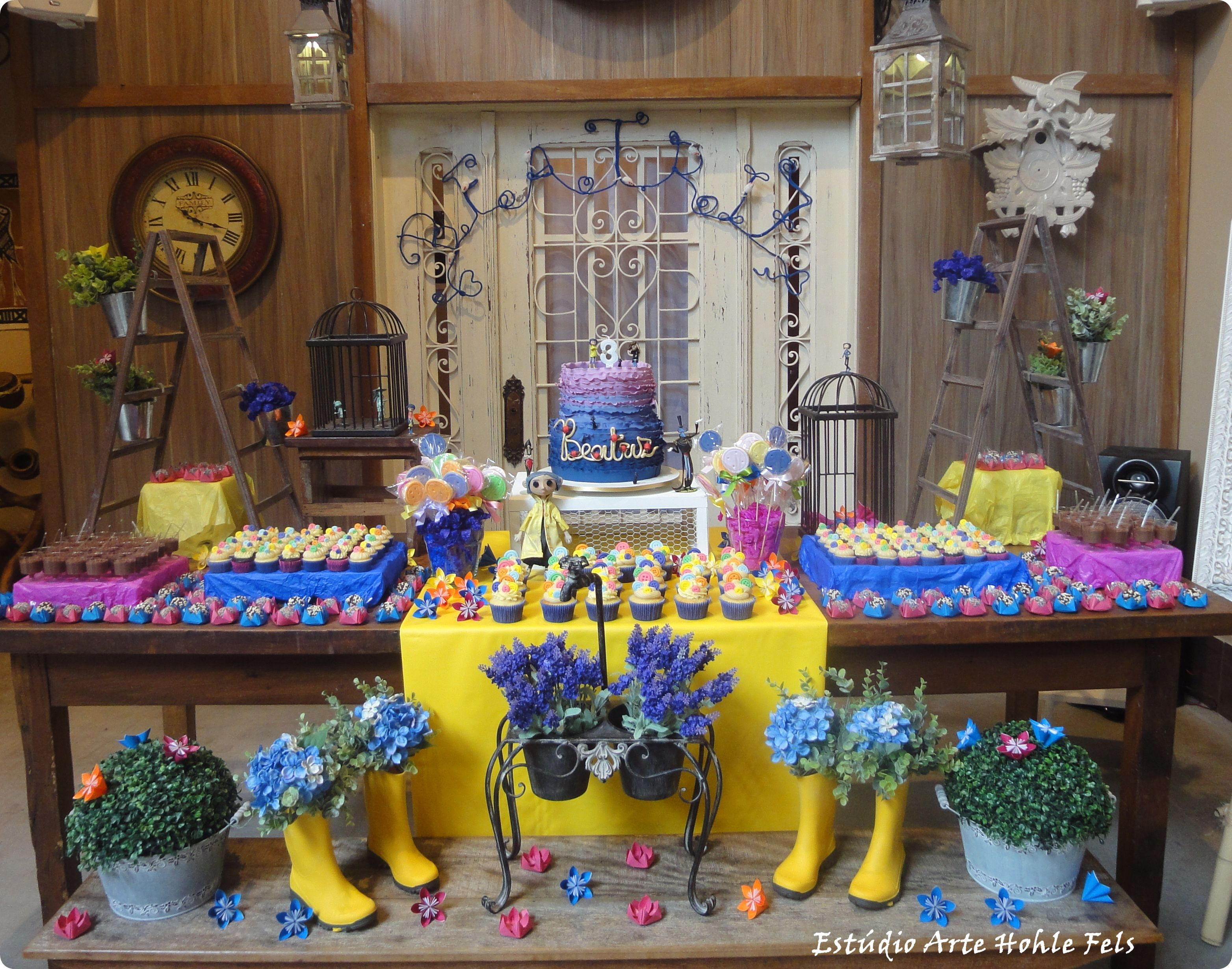 Party Table coraline Festas Pinterest