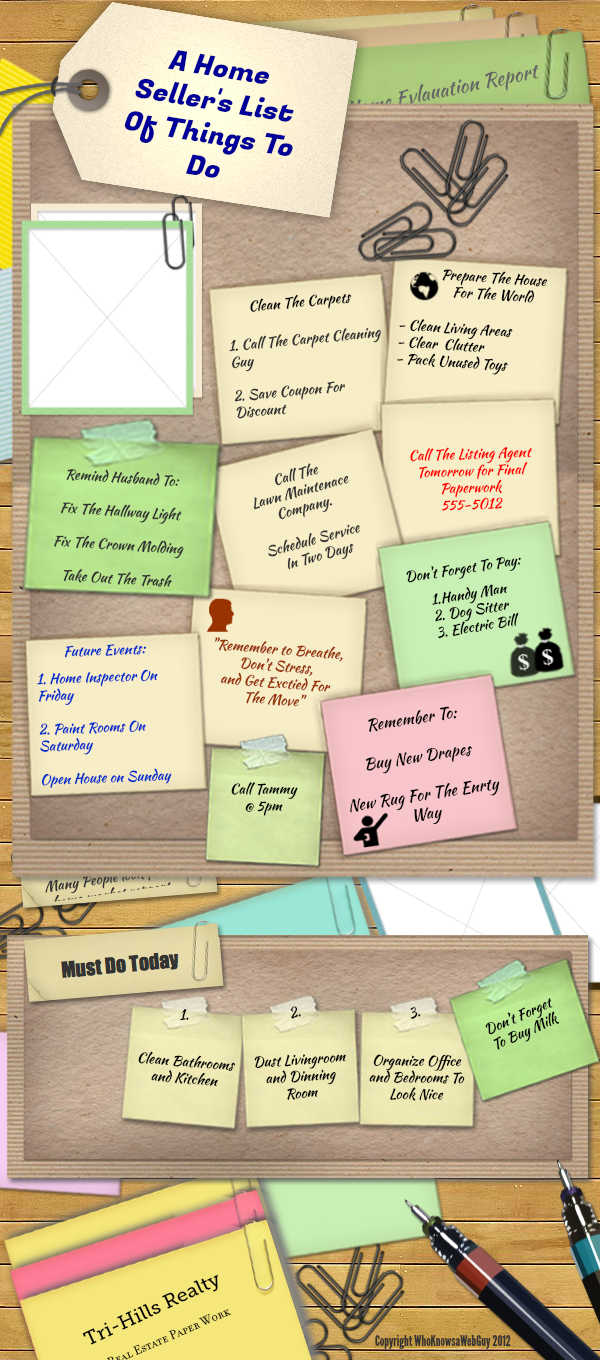Selling your house checklist -  Checklist Of Things To Remember When Prepping Your Home For Sale