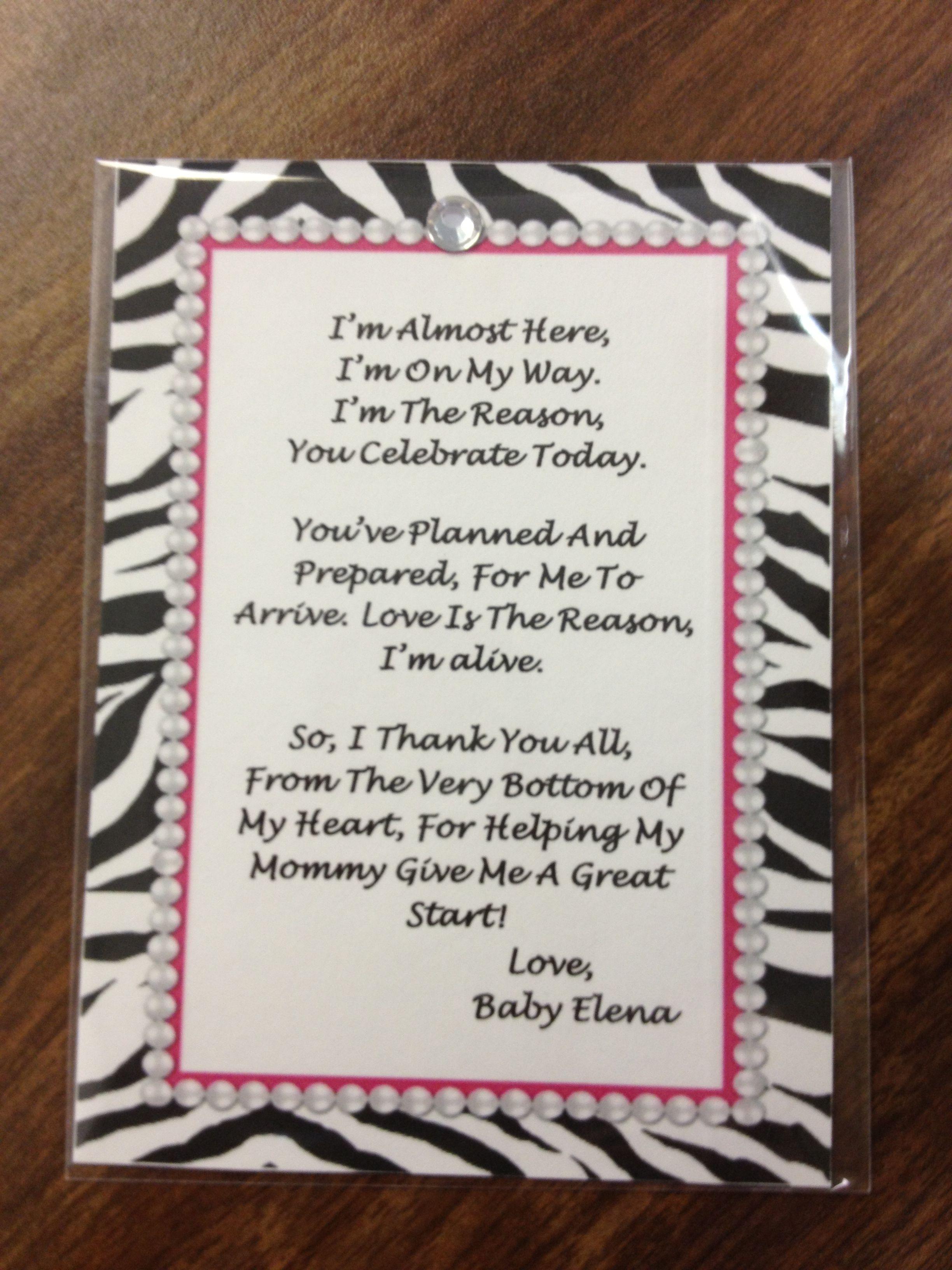 baby shower poem for a little girl baby shower ideas pinterest