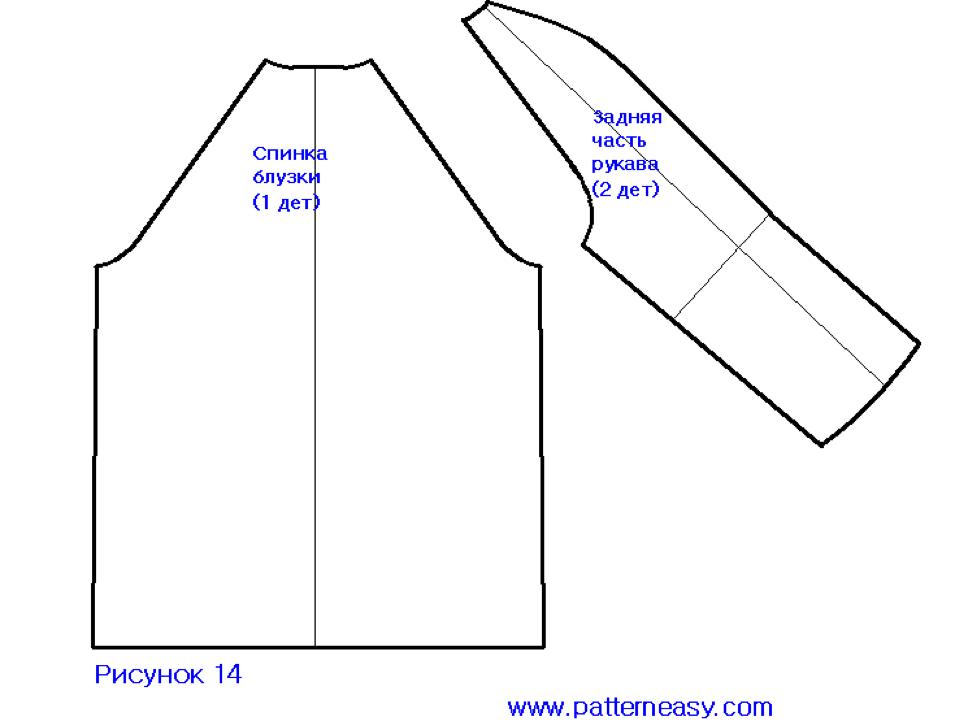 Как самой сшить платье-реглан 44