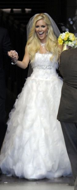 Heidi Montag Celebrity Wedding Dresses Pinterest