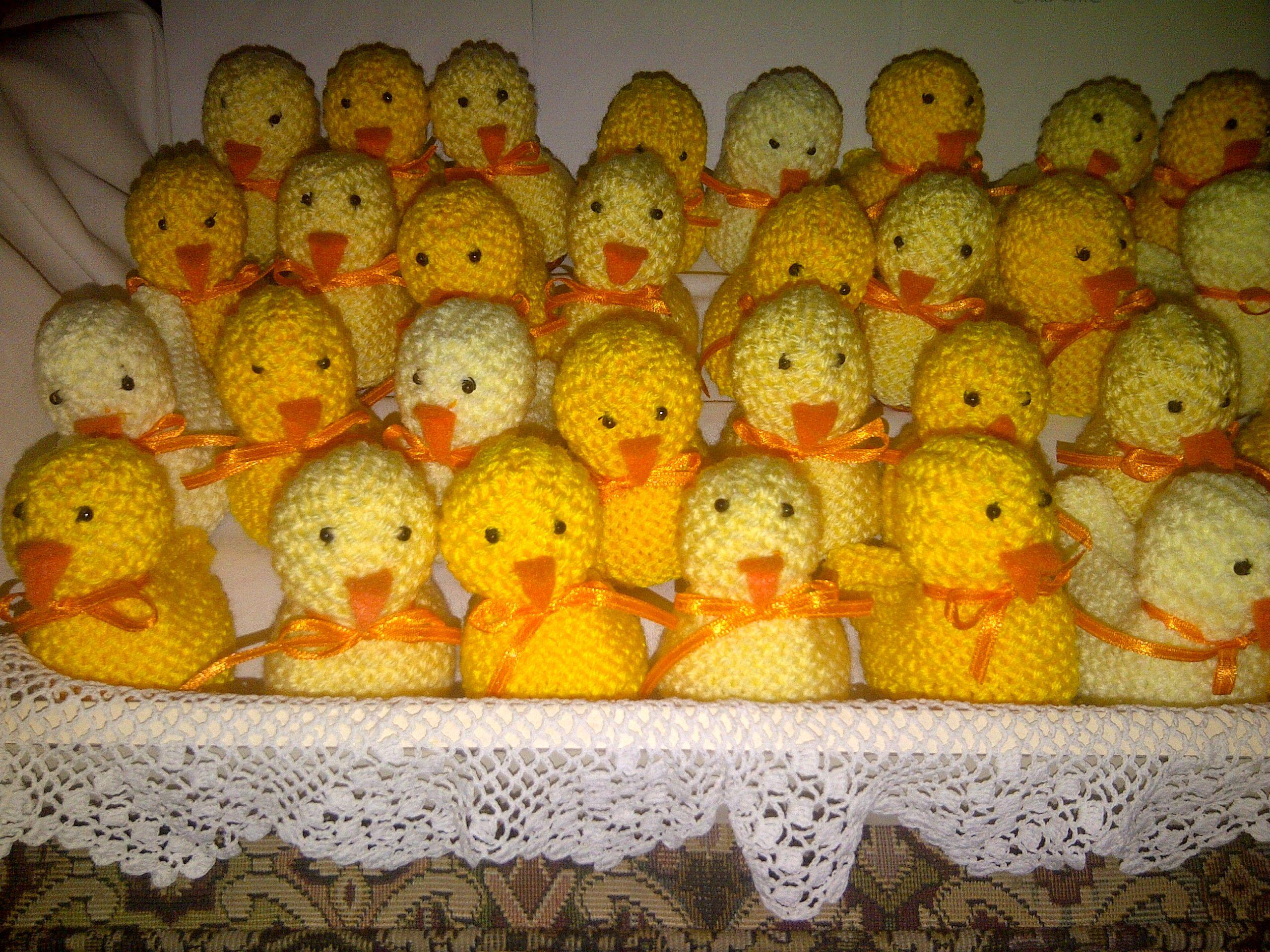 Knitted Easter Chicks 2012 Pinterest