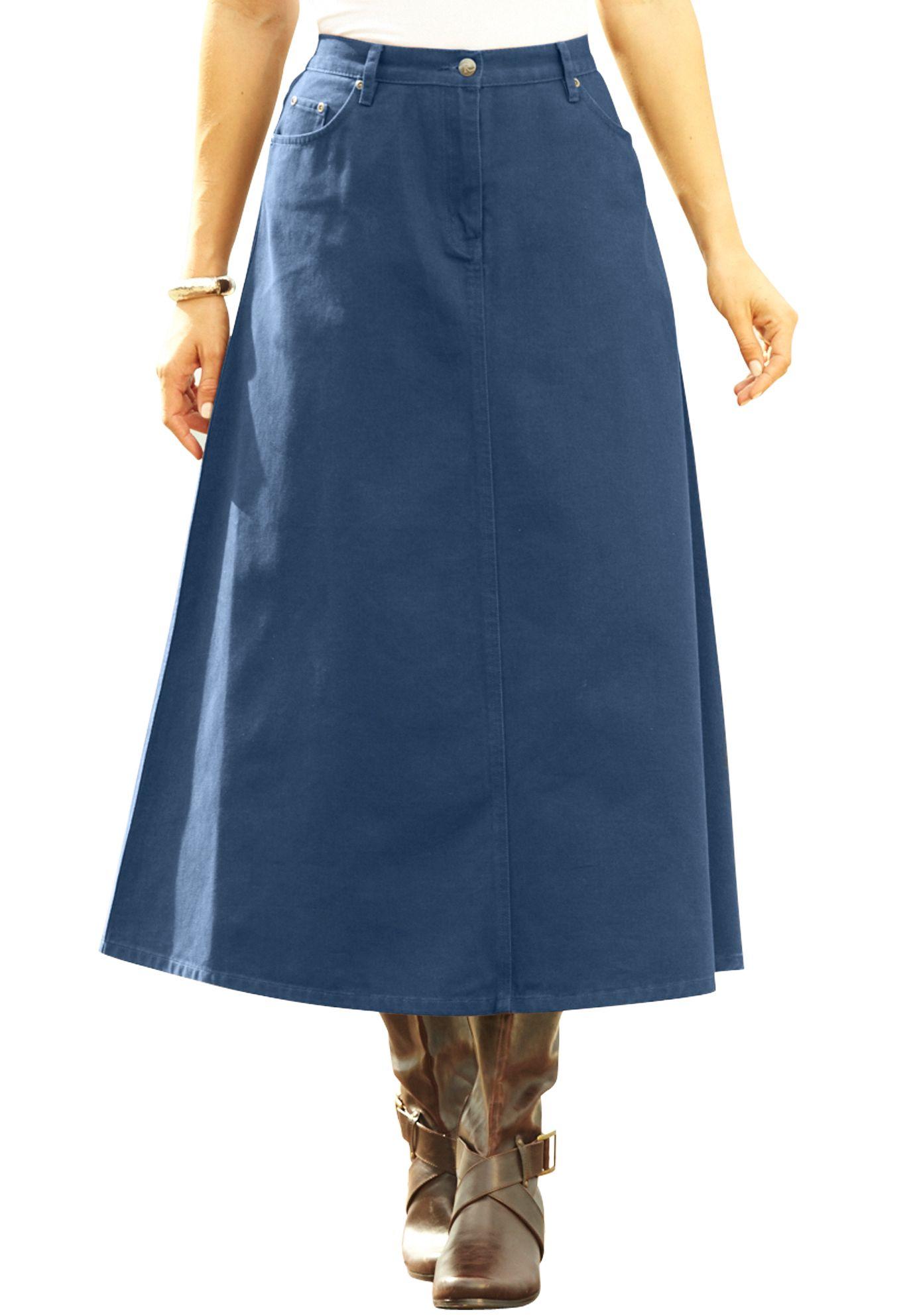 denim a line skirt my style