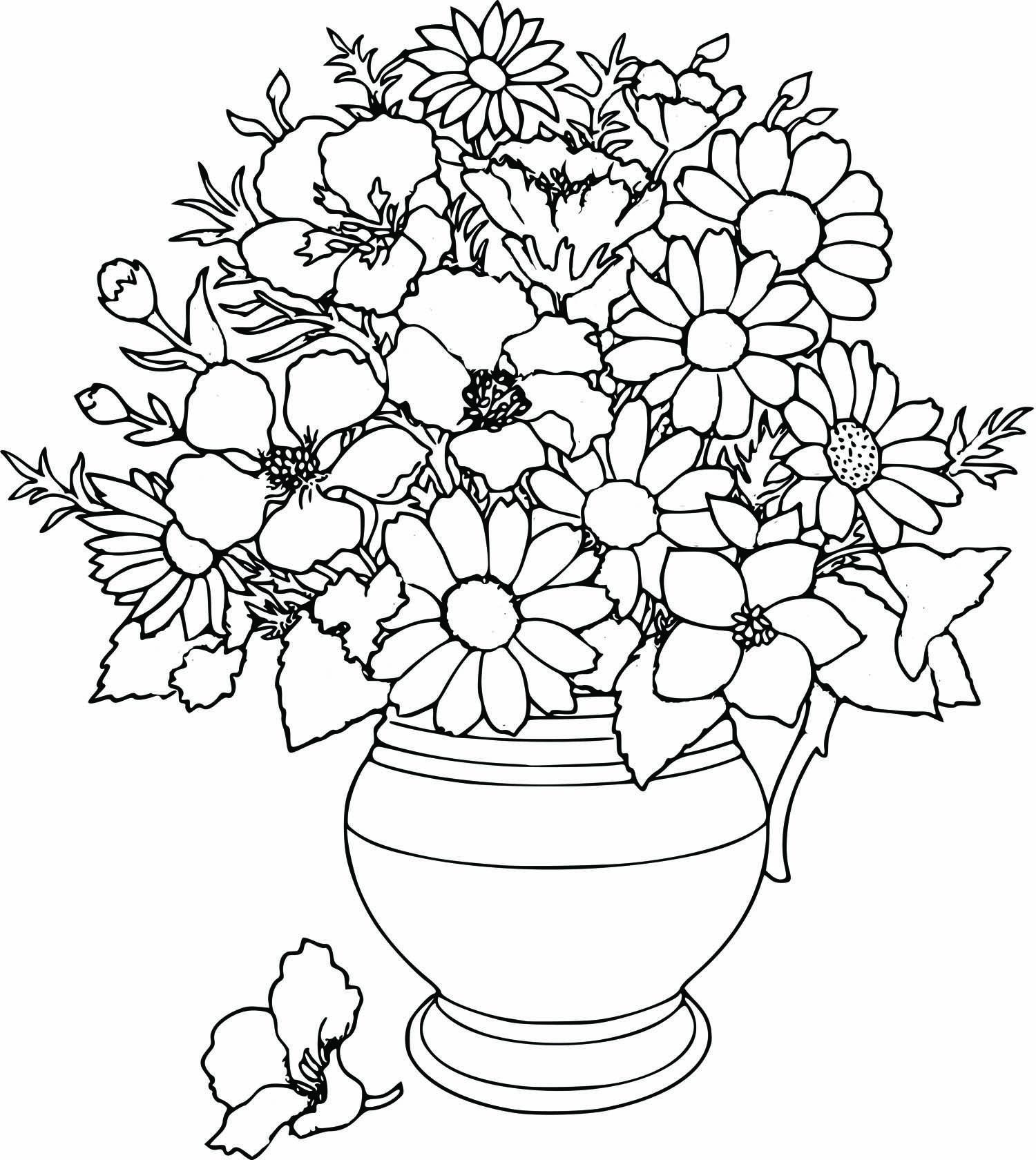 Раскраска с цветами фото